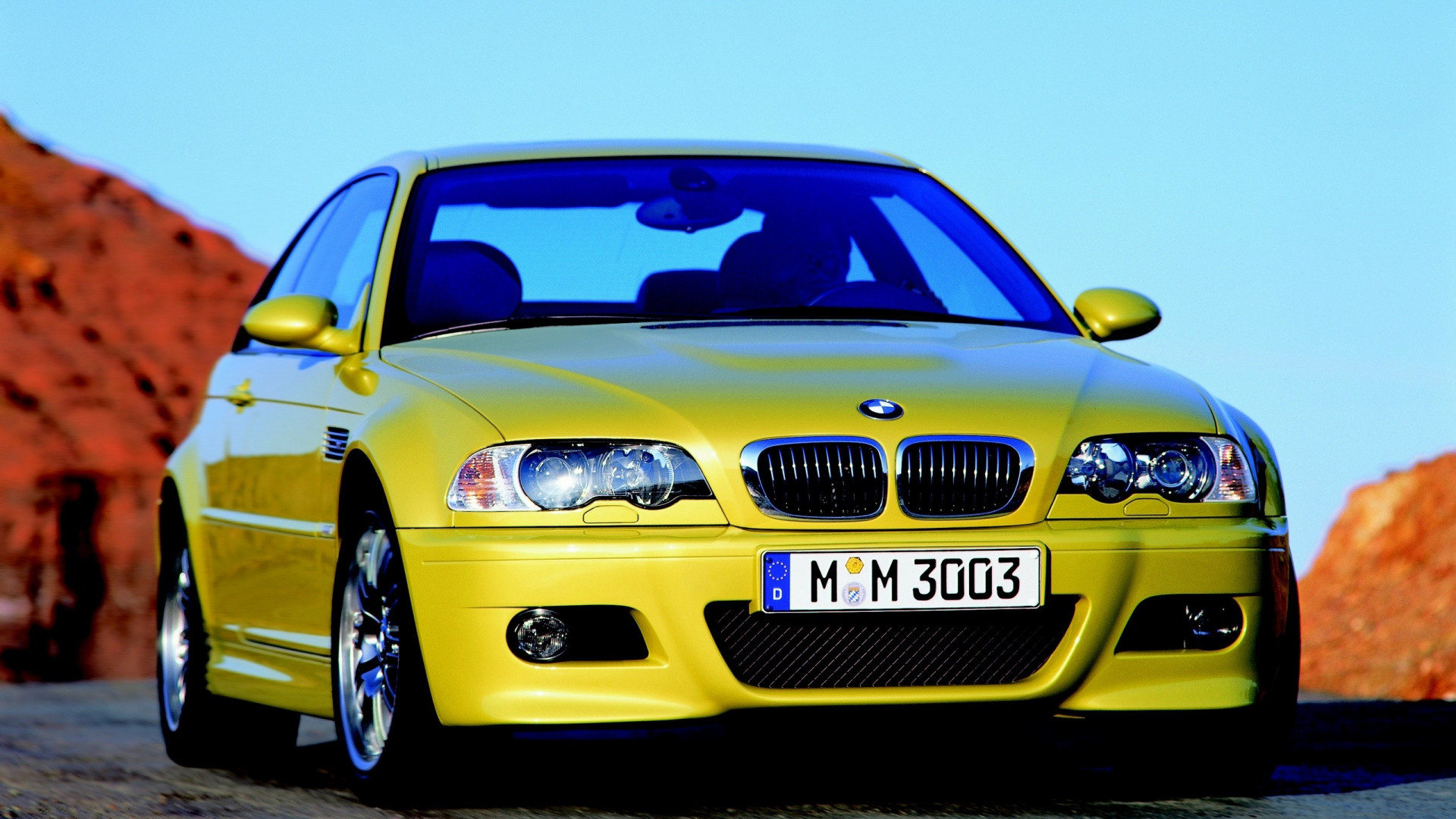 1920x1080 Preview wallpaper bmw e46 m3, cars, yellow, style, movement