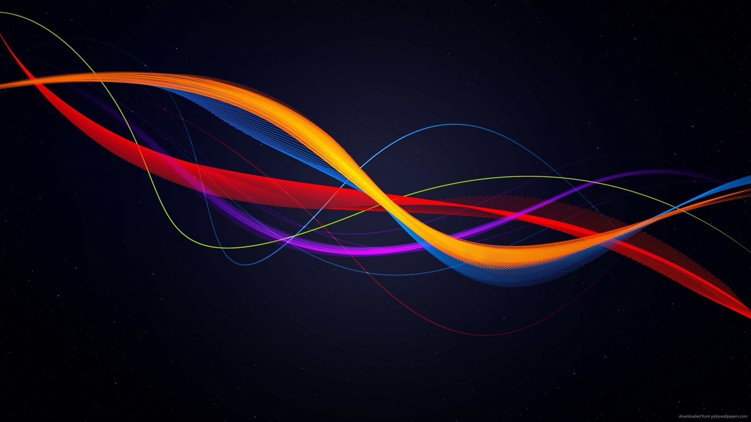2560x1440 Red Yellow Blue Purple Lines for