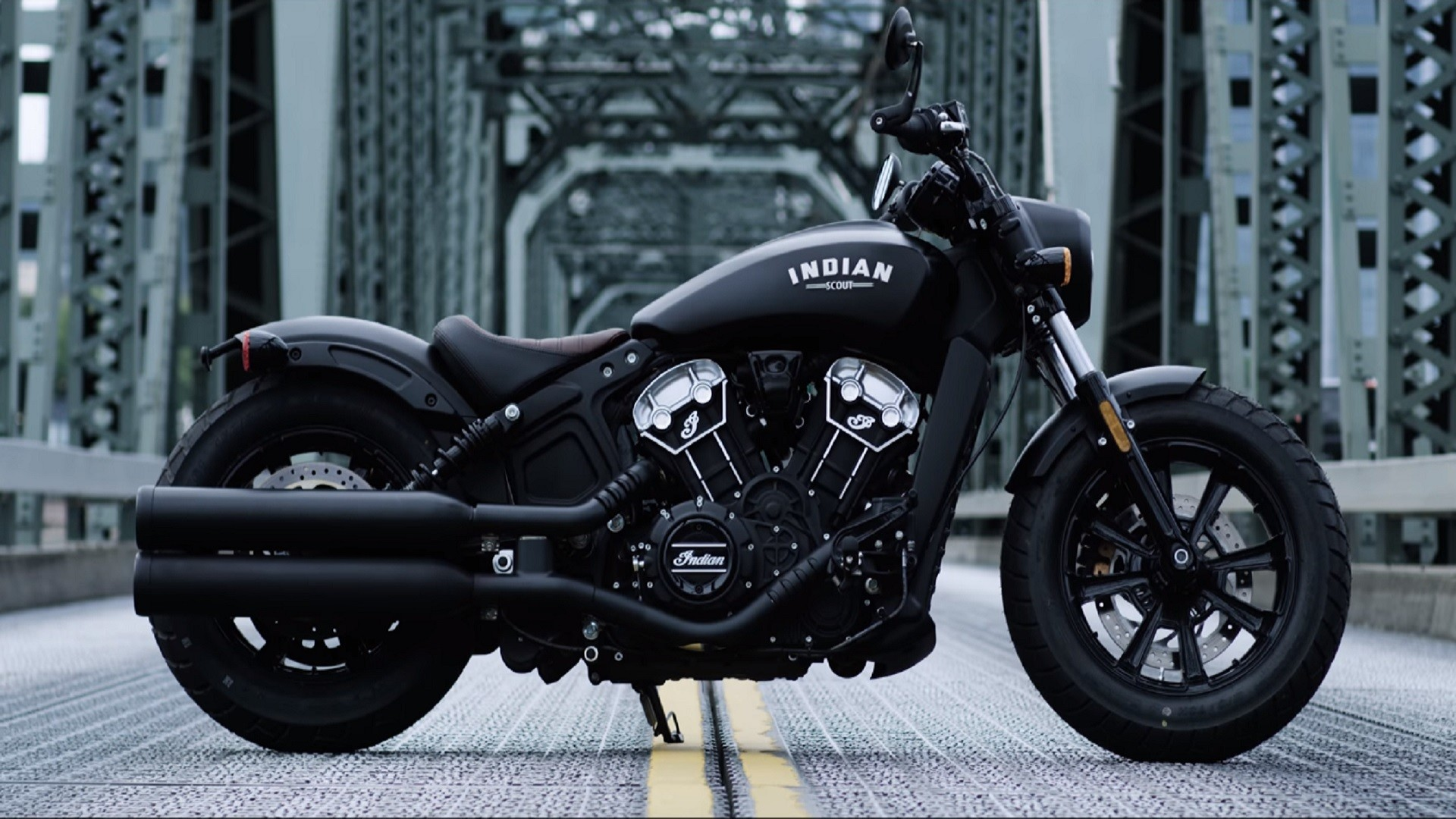 1920x1080 Indian Scout Bobber Motorcycle is Slammed Style in a Sleek Design -  SolidSmack -