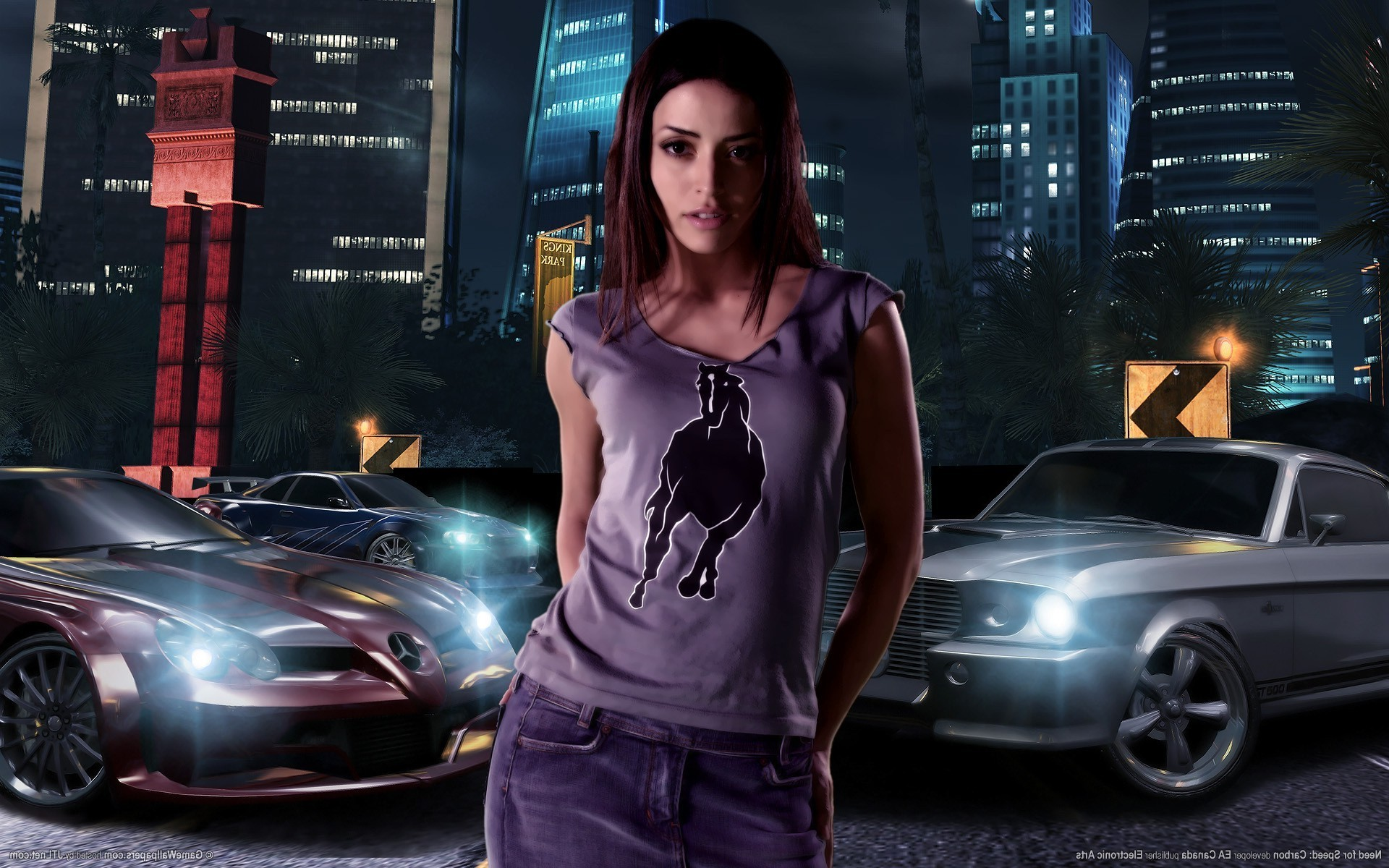 1920x1200 Need For Speed, Need For Speed: Carbon, Car, Vehicle, Video Games,  Emmanuelle Vaugier Wallpapers HD / Desktop and Mobile Backgrounds