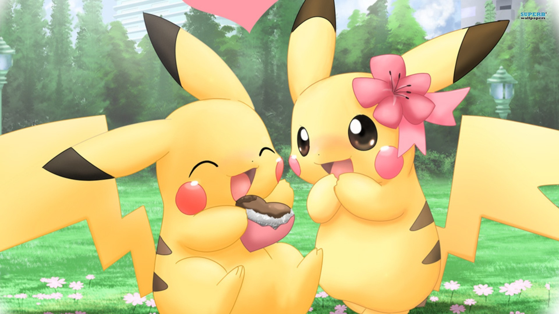 1920x1080 Pikachu Pokemon Cute Couples HD Wallpaper of Cartoon - hdwallpaper2013 .
