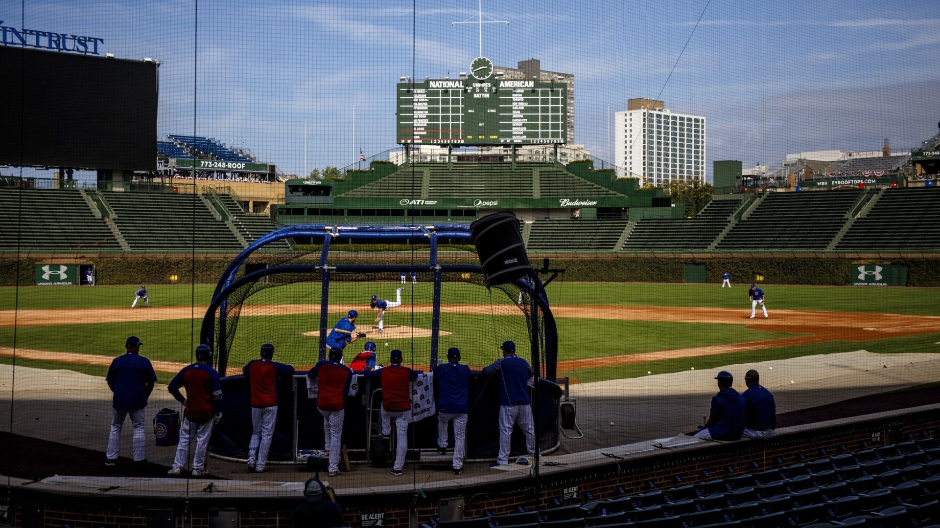 1920x1080 Cubs work out at Wrigley Field before opening postseason - Chicago Tribune