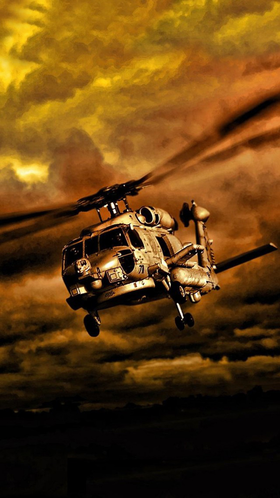 1080x1920 War Helicopters In Cloudy Sky #iPhone #6 #plus #wallpaper