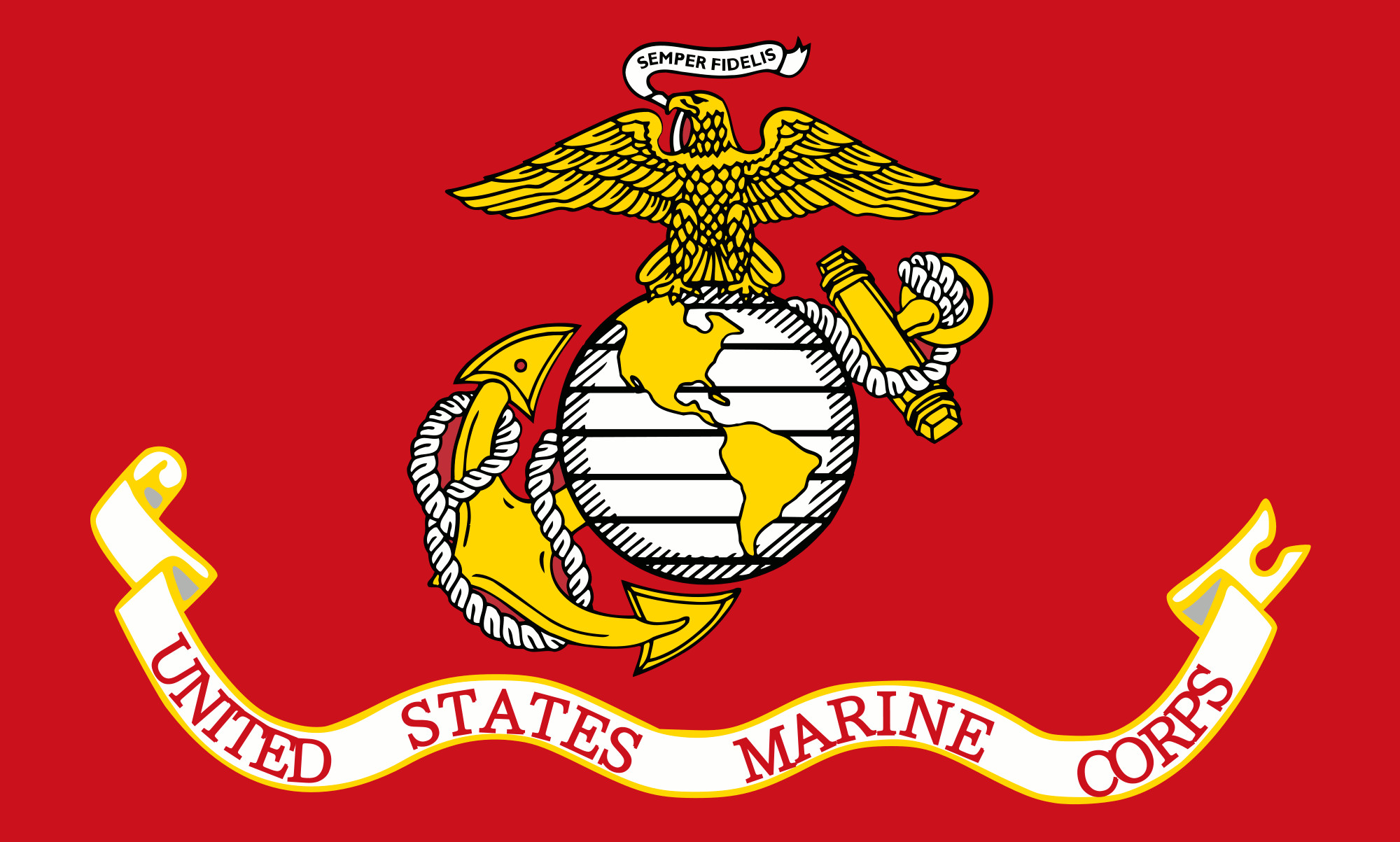 2000x1203 File:Flag of the United States Marine Corps.gif