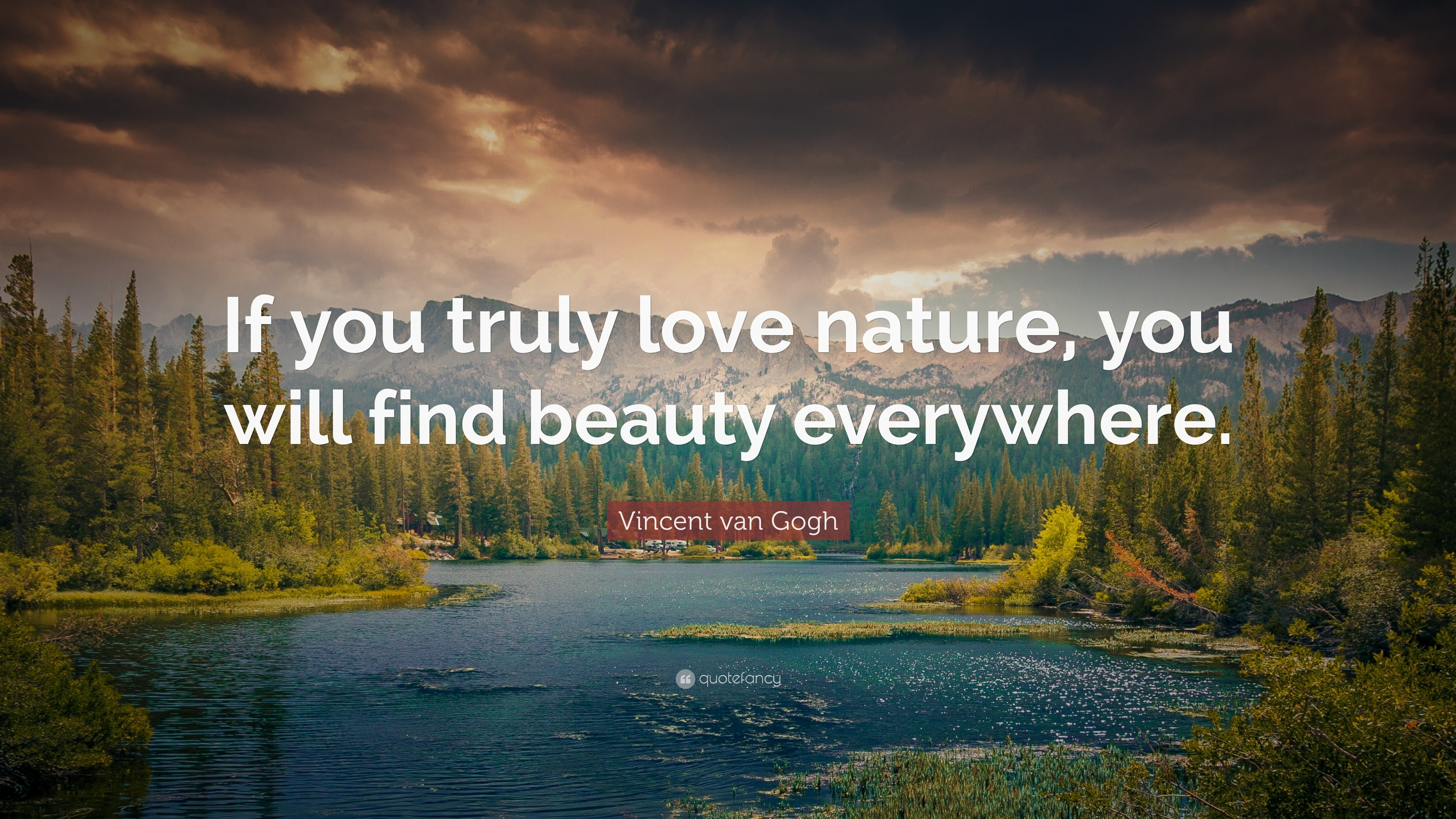 "3840x2160 Nature Quotes: ""If you truly love nature, you will find beauty everywhere."