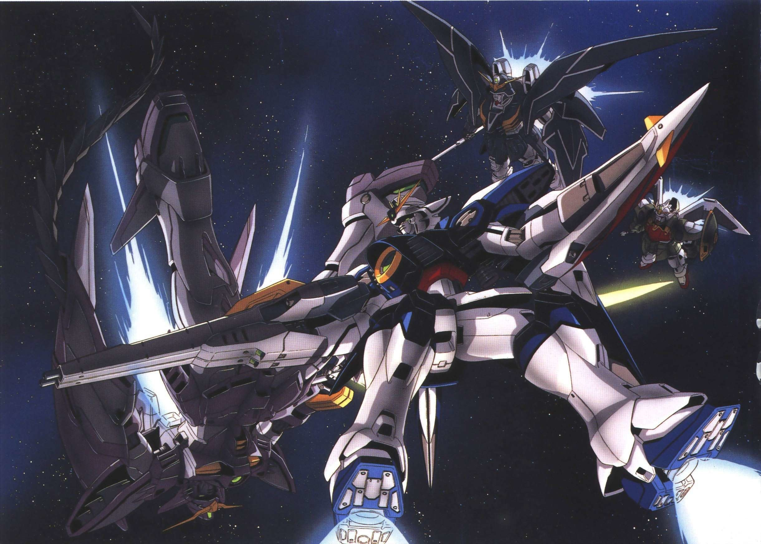 2442x1744  Wallpapers For > Gundam Wing Zero Wallpapers