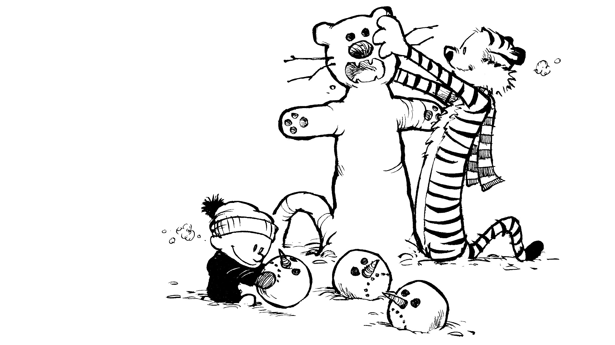 Calvin And Hobbes Snowman Wallpaper 62 Images