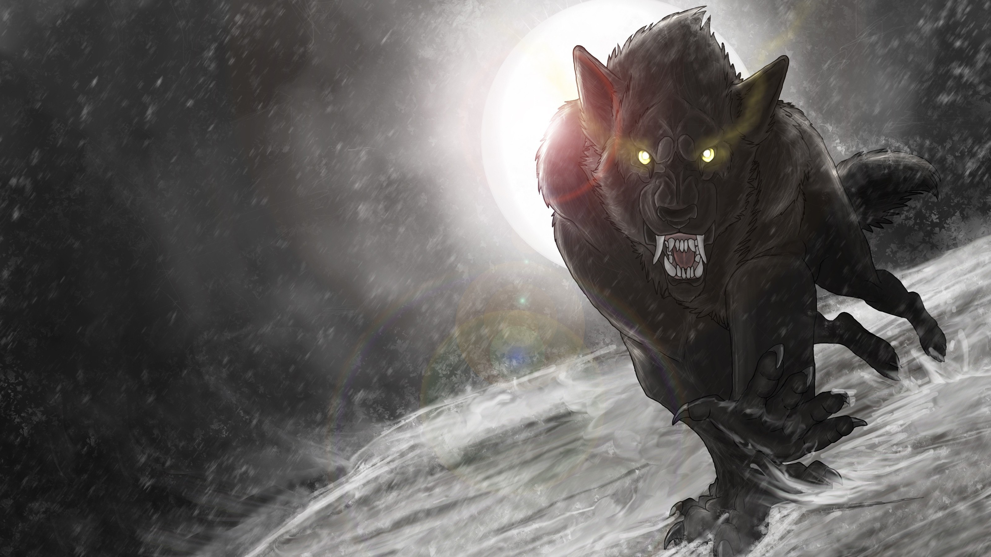 3200x1800  Nocturnal Clash wallpaper from Werewolf wallpapers Evil | HD  Wallpapers | Pinterest | Werewolves and Wallpaper