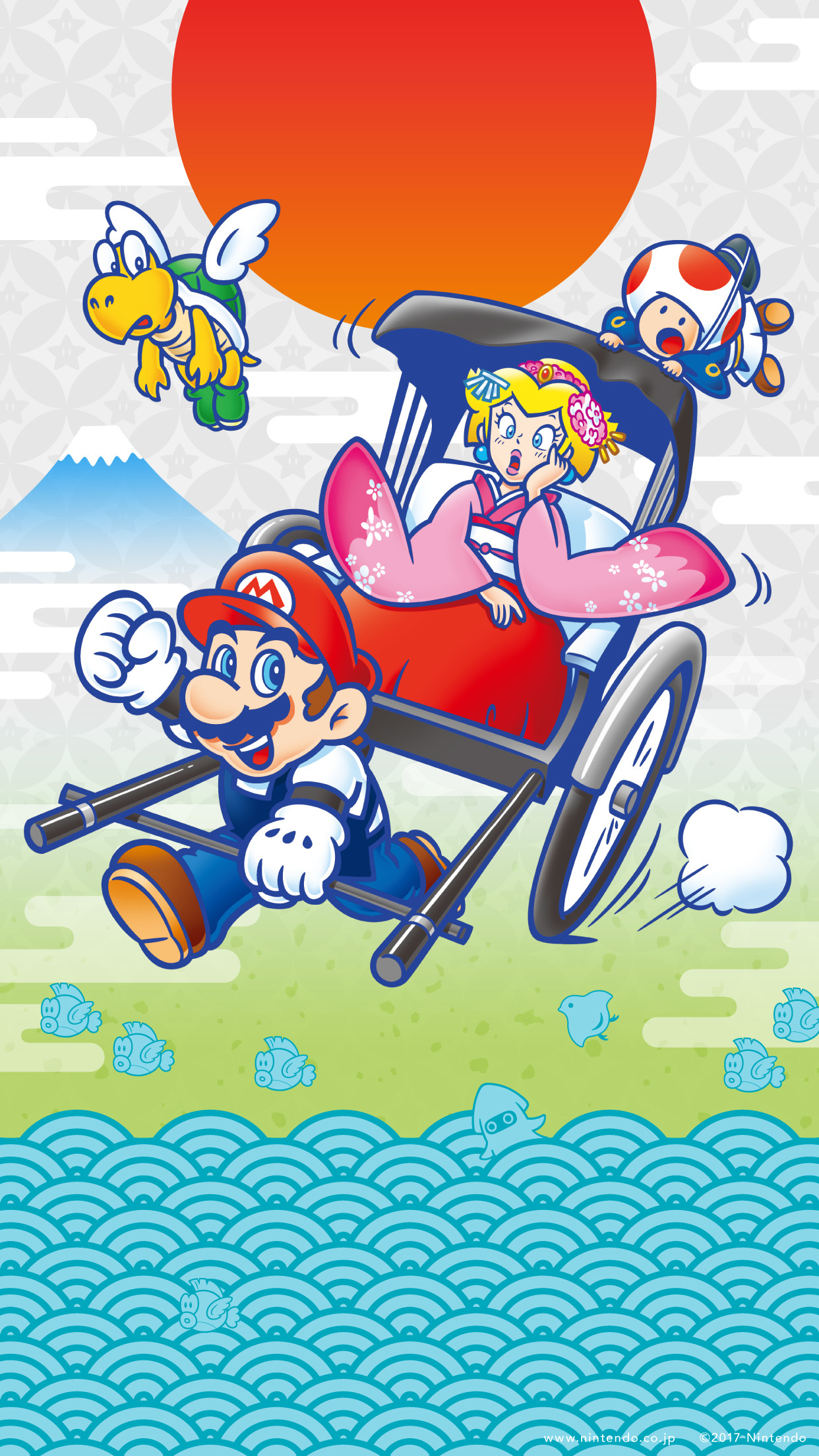 1242x2208 Nintendo Japan celebrates the new year with a new Mario themed wallpaper