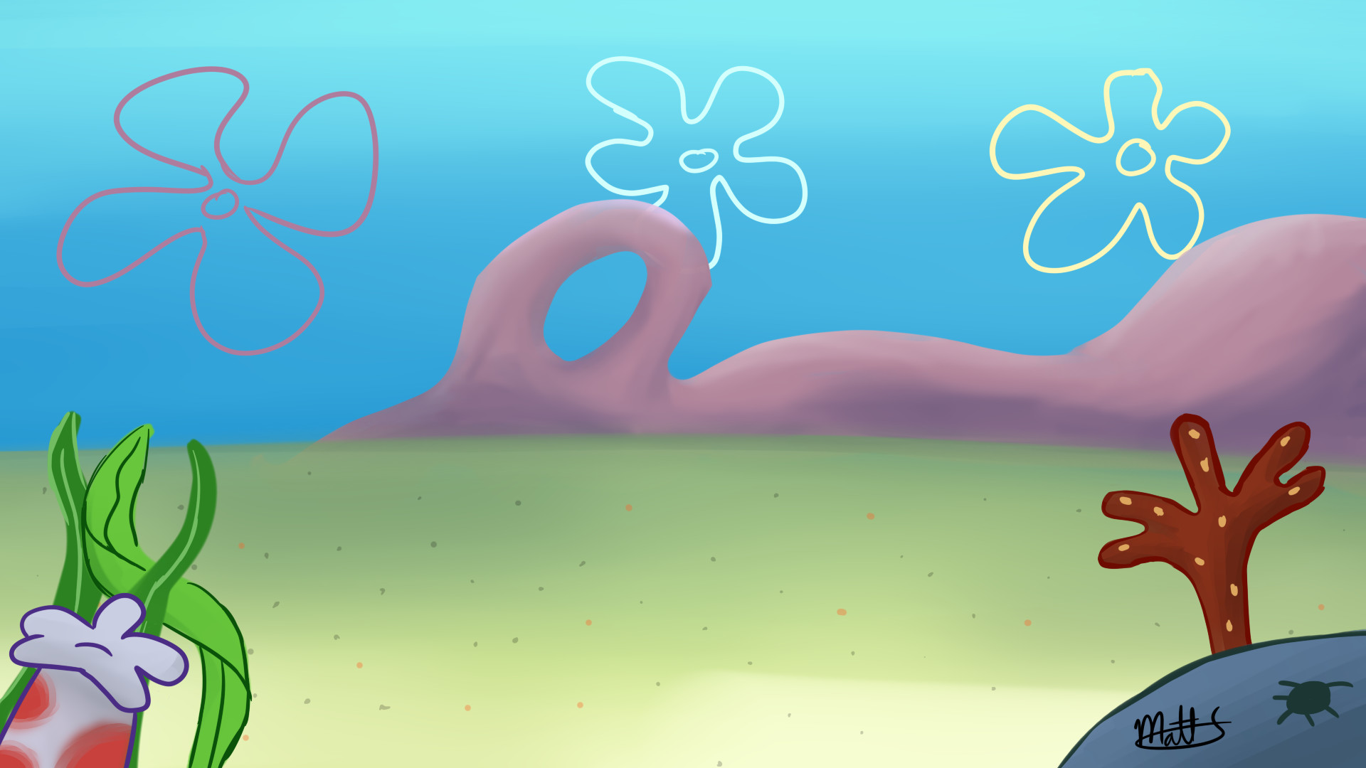 1920x1080 Spongebob background thing by FluffyMystic Spongebob background thing by  FluffyMystic
