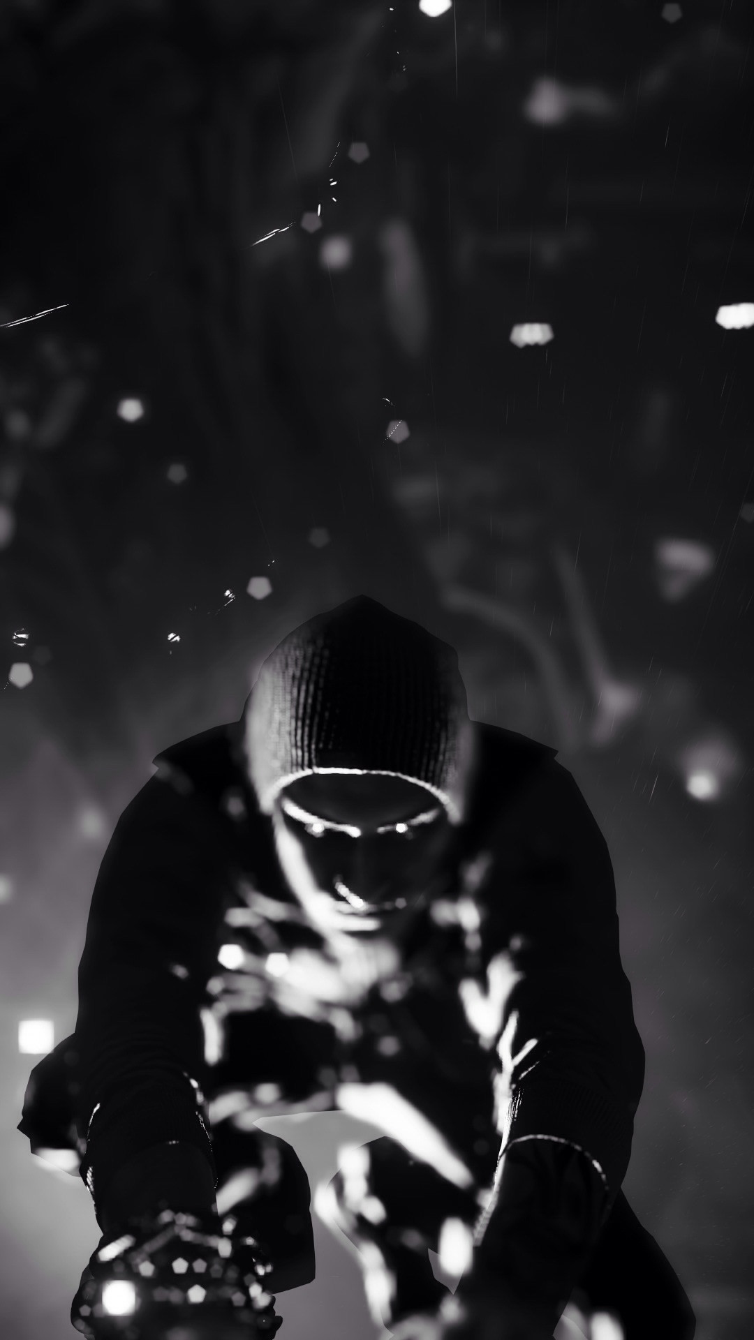 1080x1920 Infamous Second Son Black And White iPhone 6 Plus HD Wallpaper