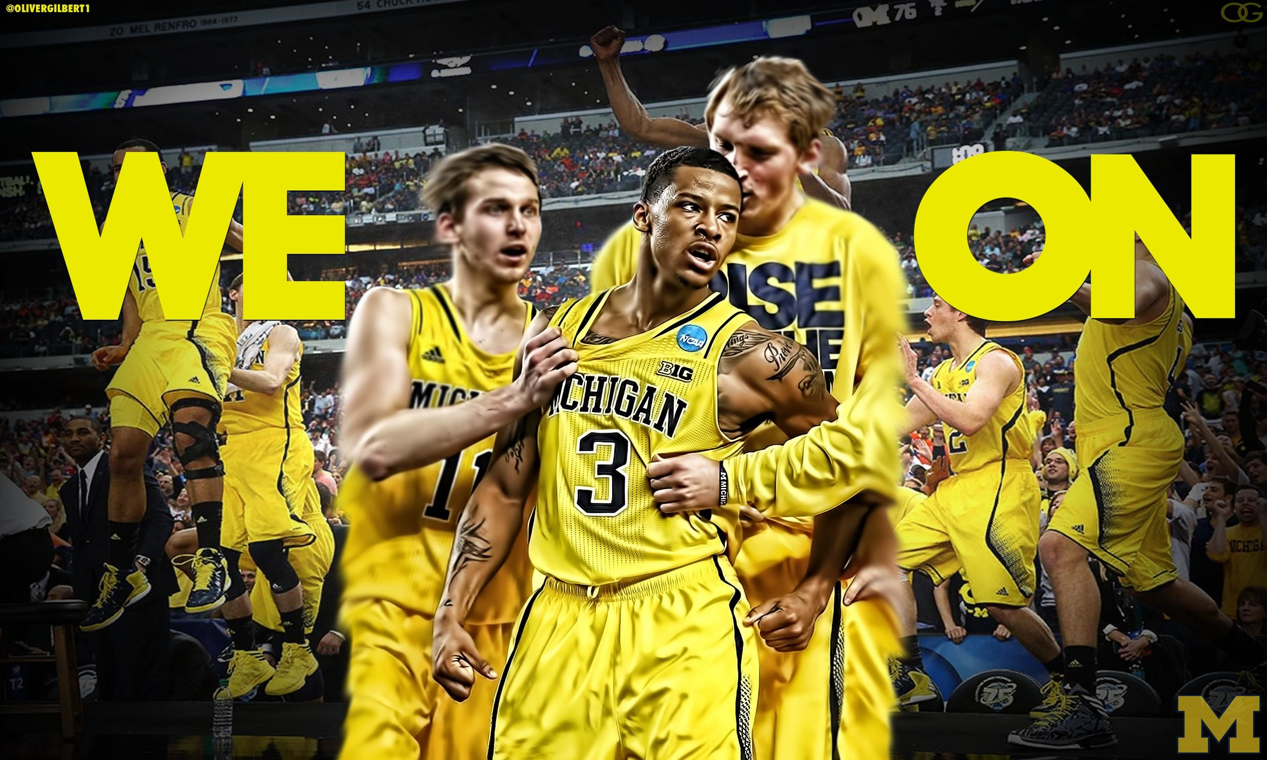 2500x1500 Free Michigan Wolverines iPhone iPod Touch Wallpapers 2500×1500