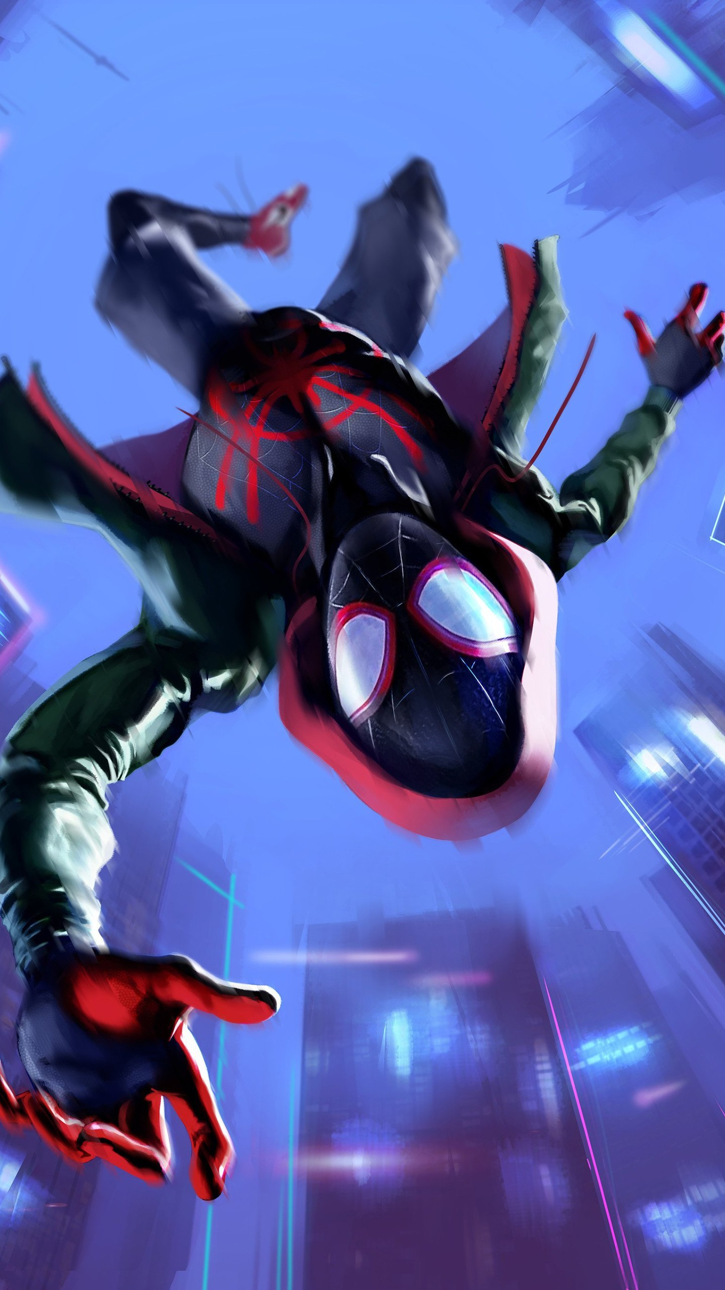 1440x2560 Miles Morales in Spider-Man Into the Spider-Verse Wallpapers | HD .