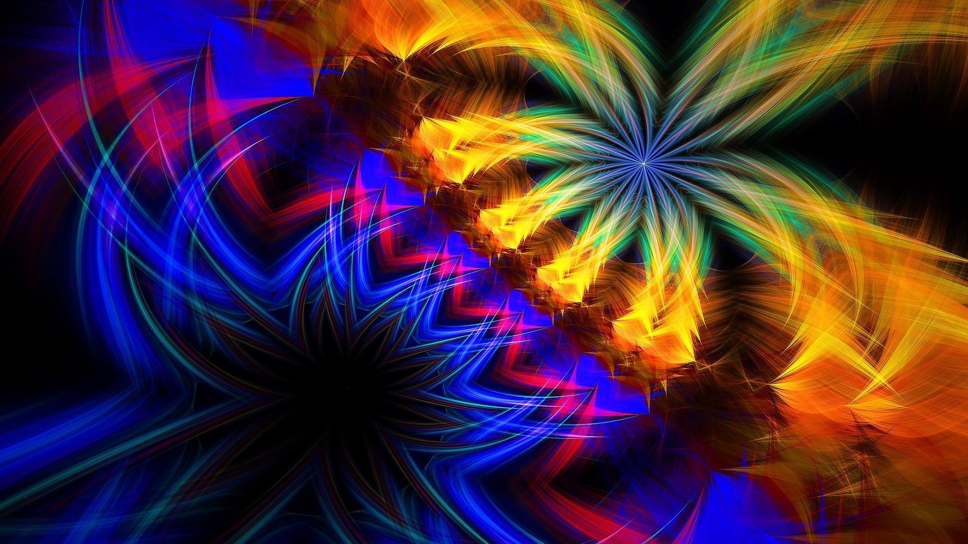 1920x1080 Multicolored fractals HD Wallpaper