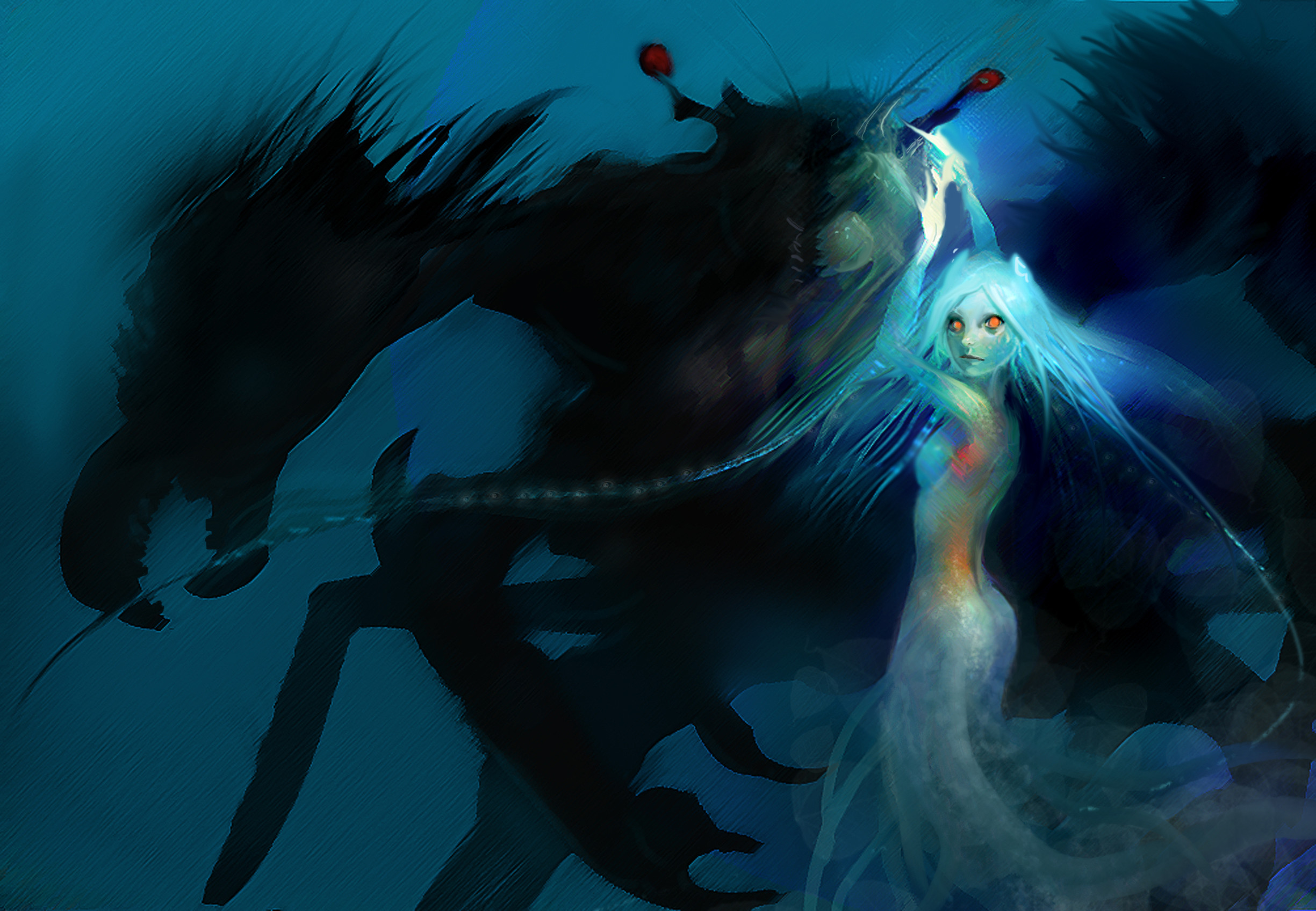 2449x1696 Sea Angel wallpaper from Angels wallpapers