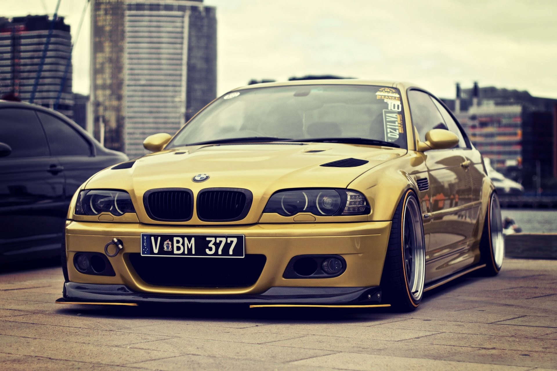 1920x1280 gold bmw m3 e46 stance bmw tuning