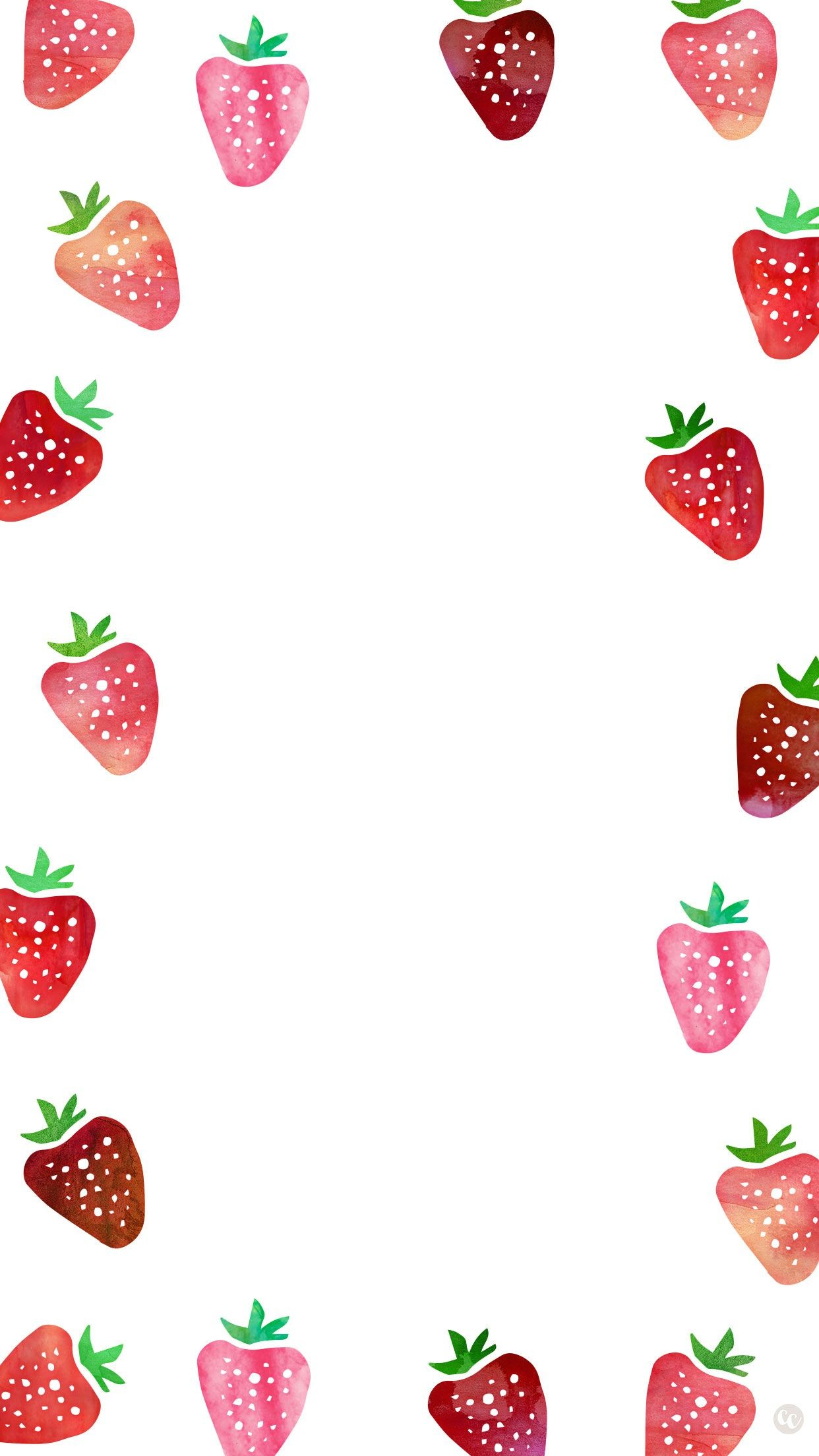 1242x2208 Dress up your smartphone with this cute strawberry wallpaper! Also  available for desktop and iPad. Download here.