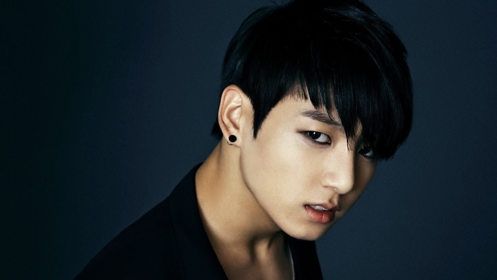2048x1152  Wallpaper bangtan boys, jungkook, singer, face