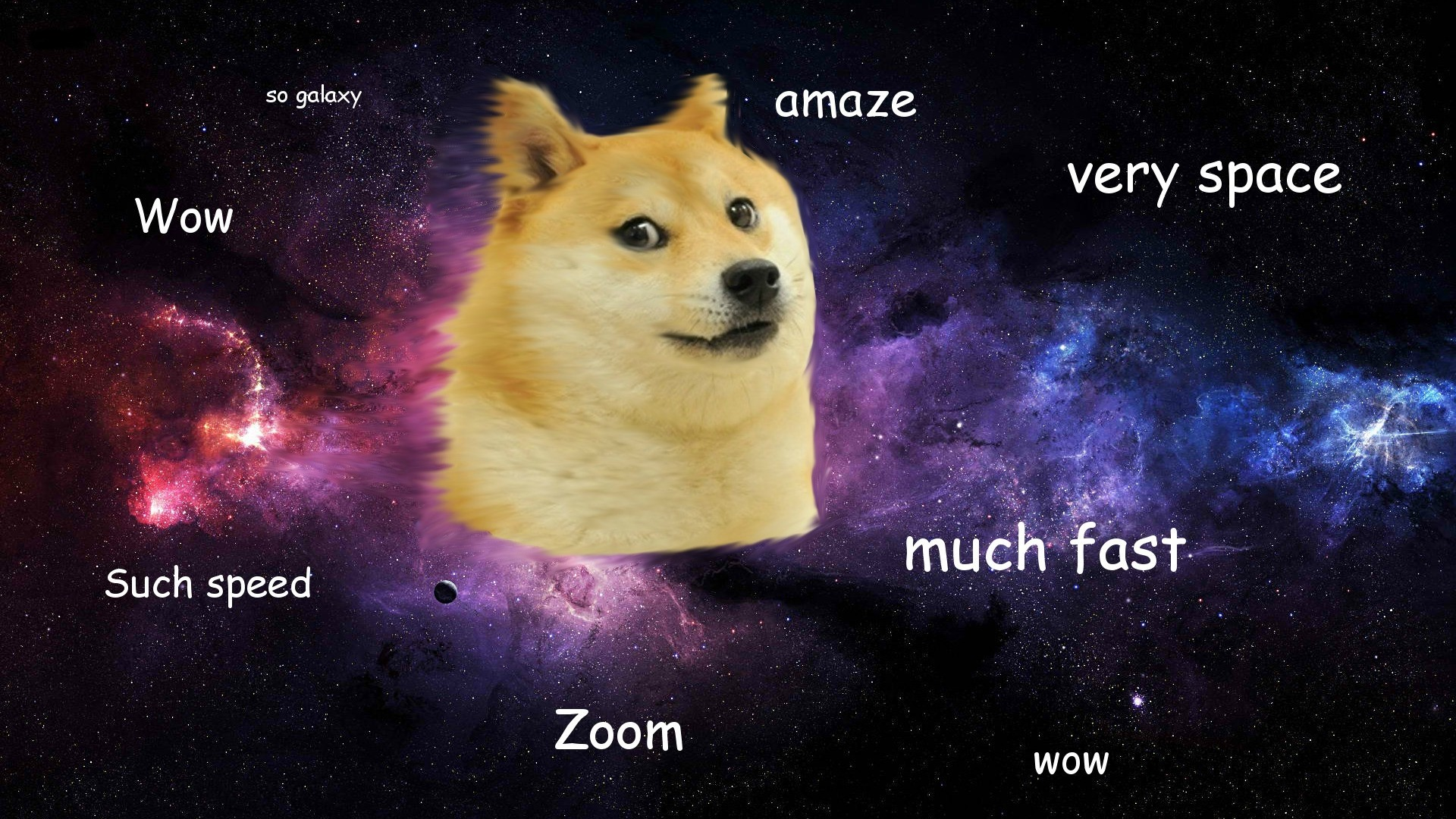 1920x1080 Doge in SPACE - Doge Wallpaper () (14011)