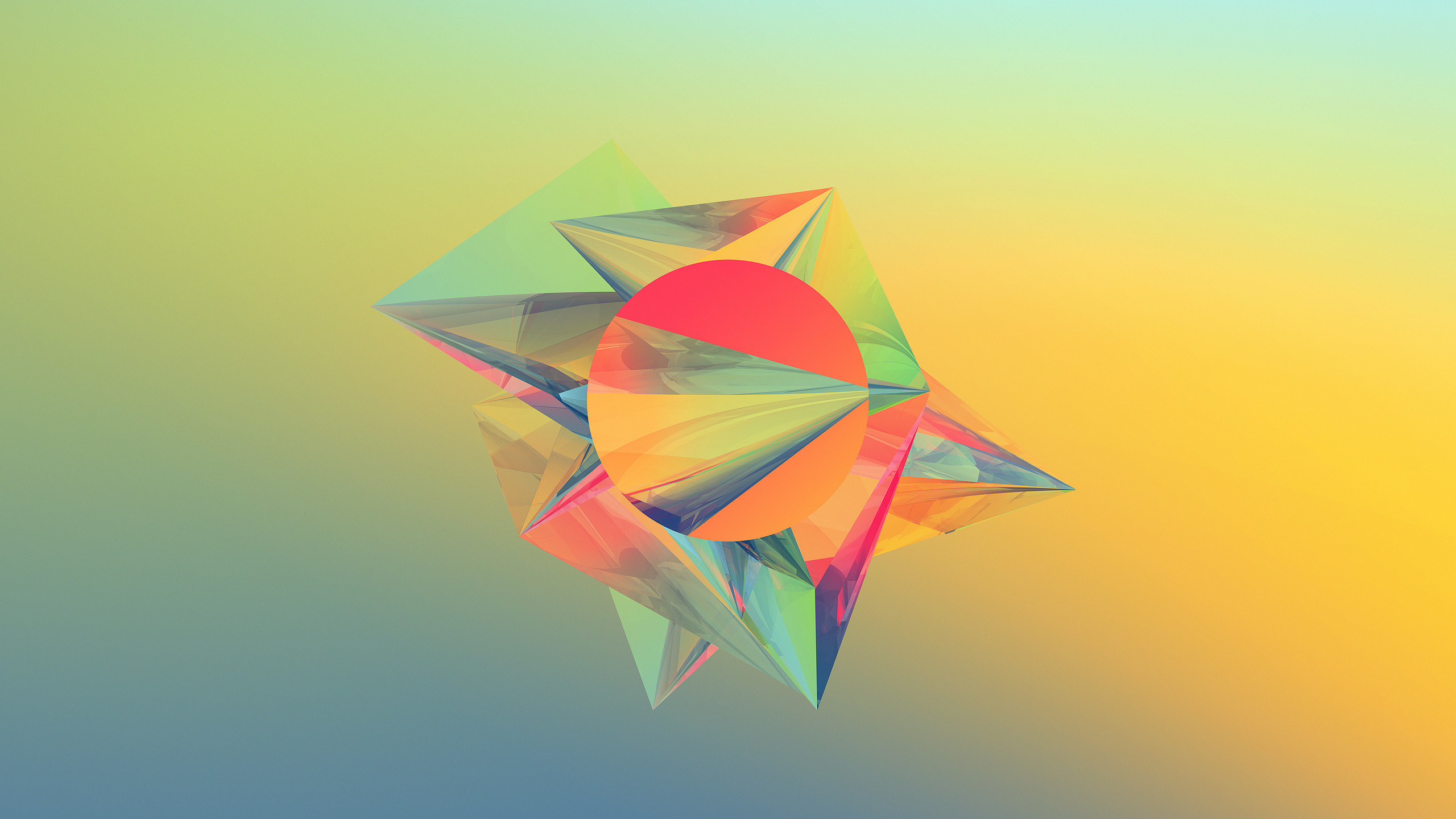 2560x1440 Geometric Abstract Shapes Wallpaper