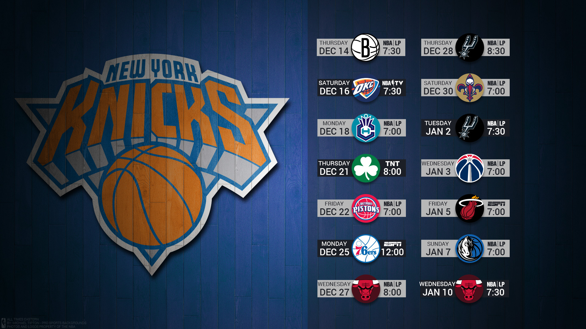 1920x1080 ... New York Knicks 2017 nba basketball team logo december schedule  hardwood wallpaper free on mac and