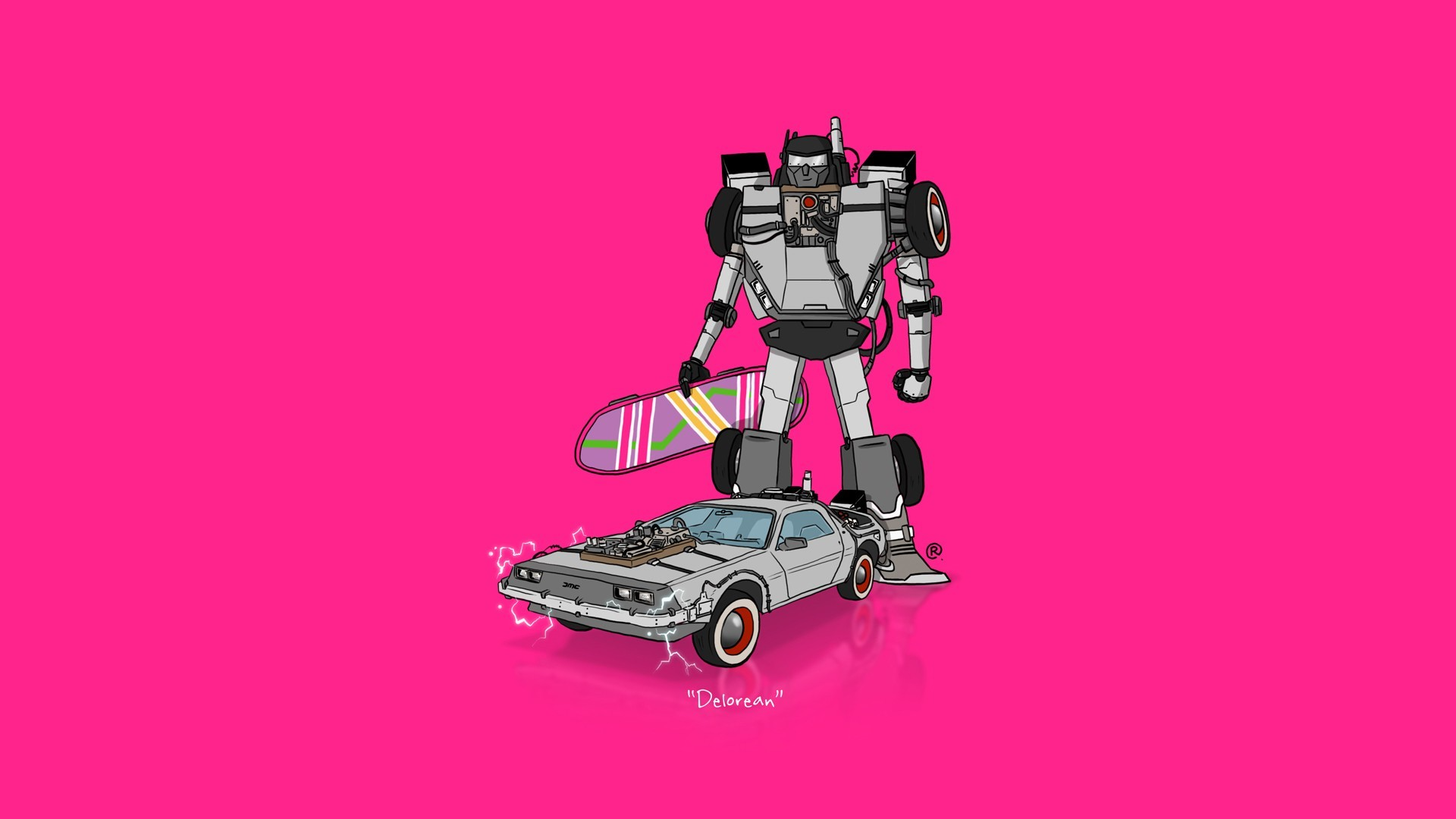 1920x1080 car, Transformers, Minimalism, DeLorean, Back To The Future Wallpapers HD /  Desktop and Mobile Backgrounds