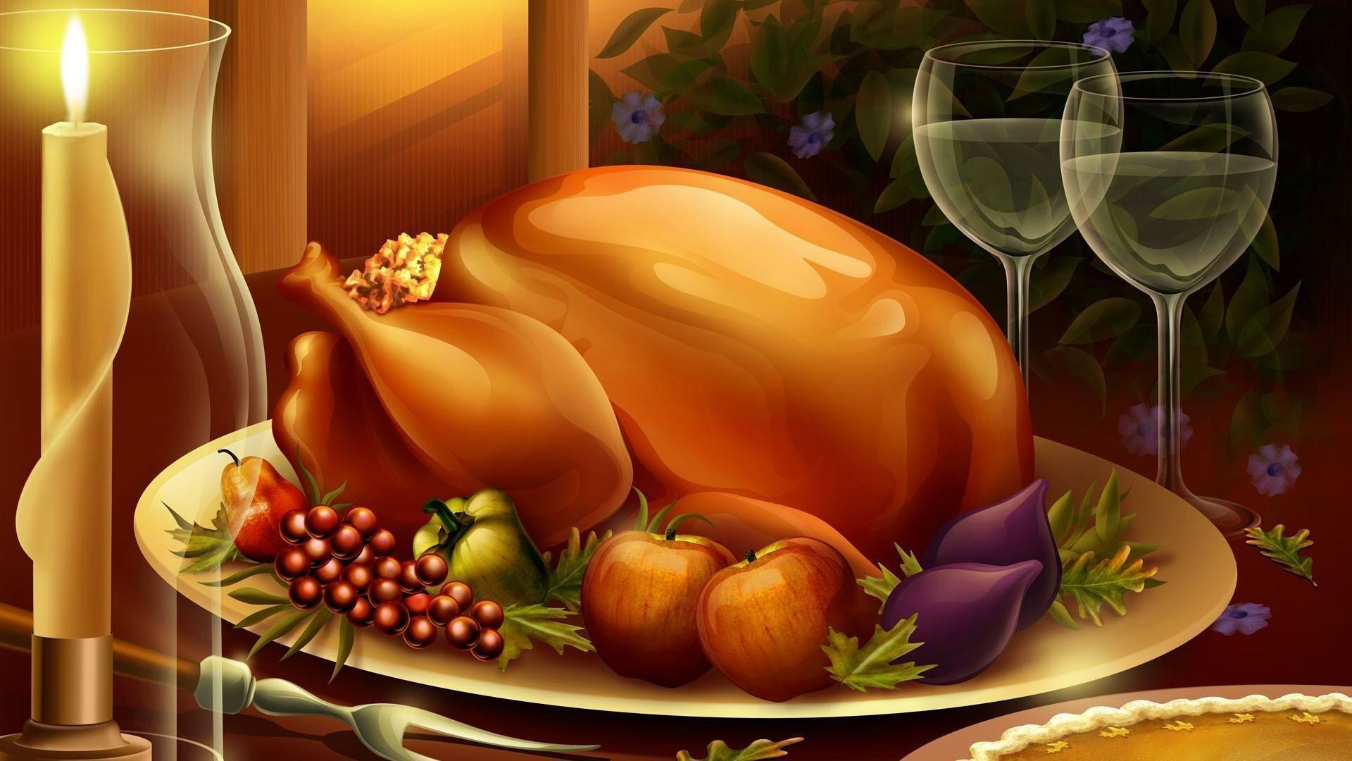 1920x1080 HD 3d thanksgiving foods Wallpaper Free