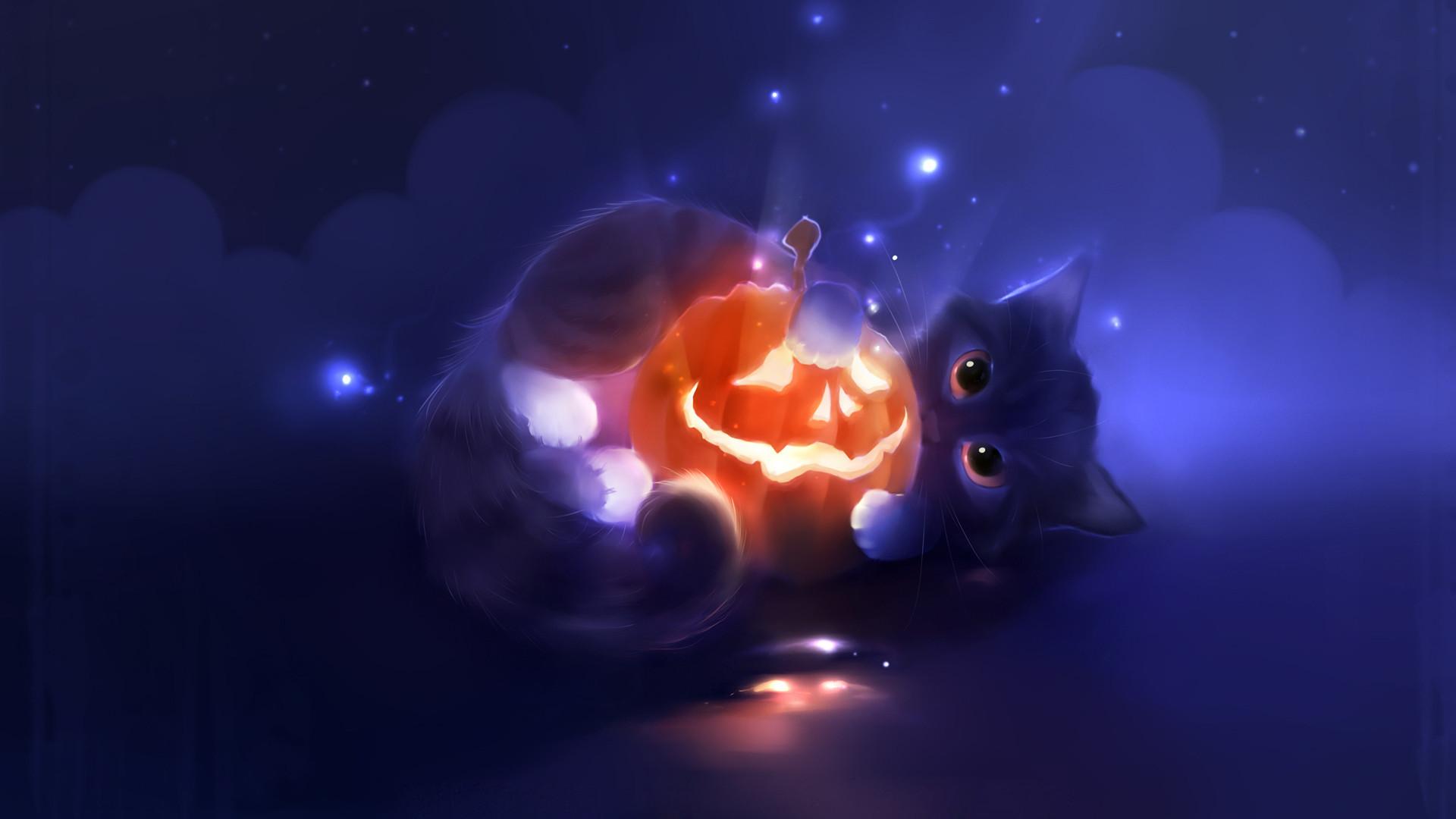 Cute Cat Halloween Wallpaper 11