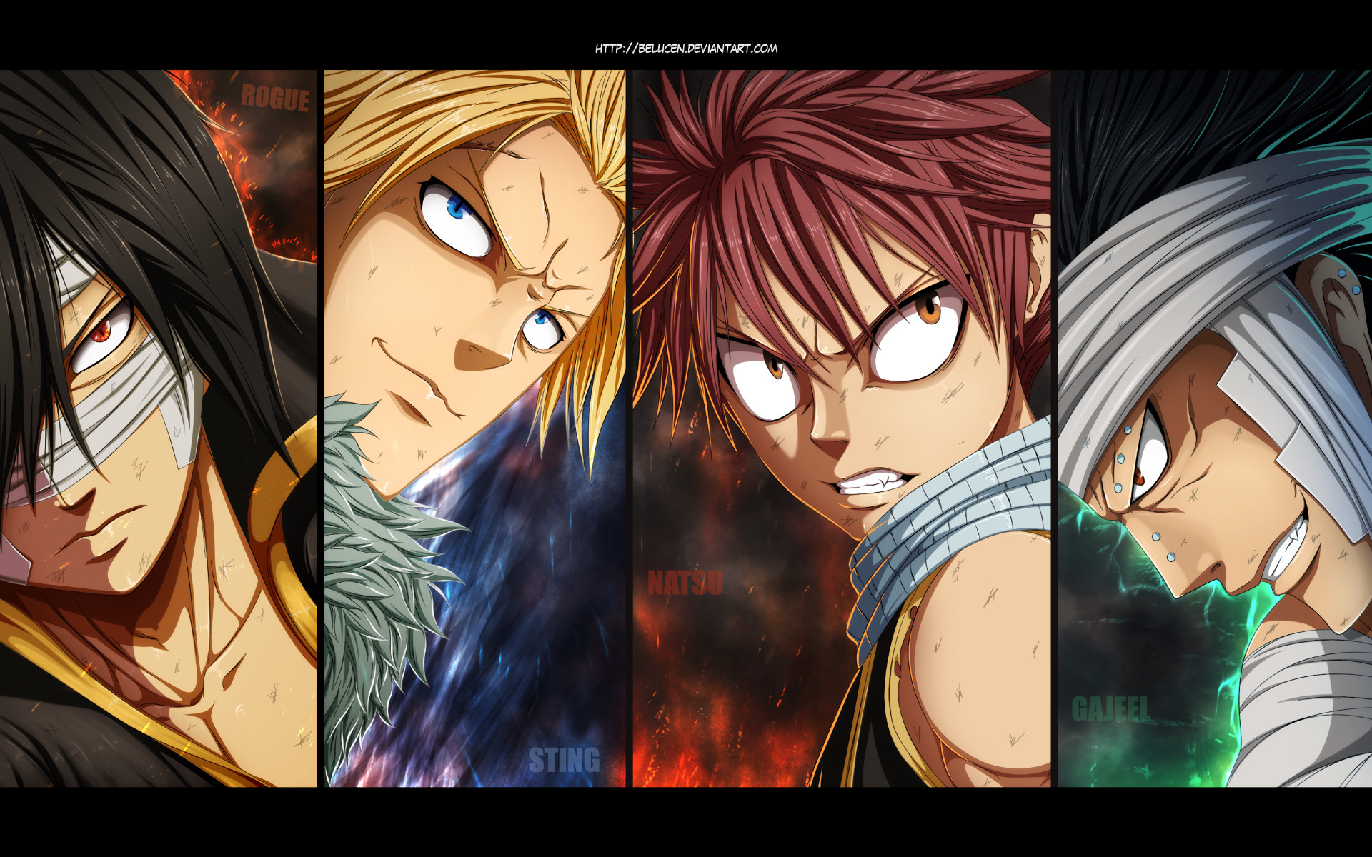 1920x1200 Anime - Fairy Tail Rogue Cheney Sting Eucliffe Natsu Dragneel Gajeel Redfox  Wallpaper