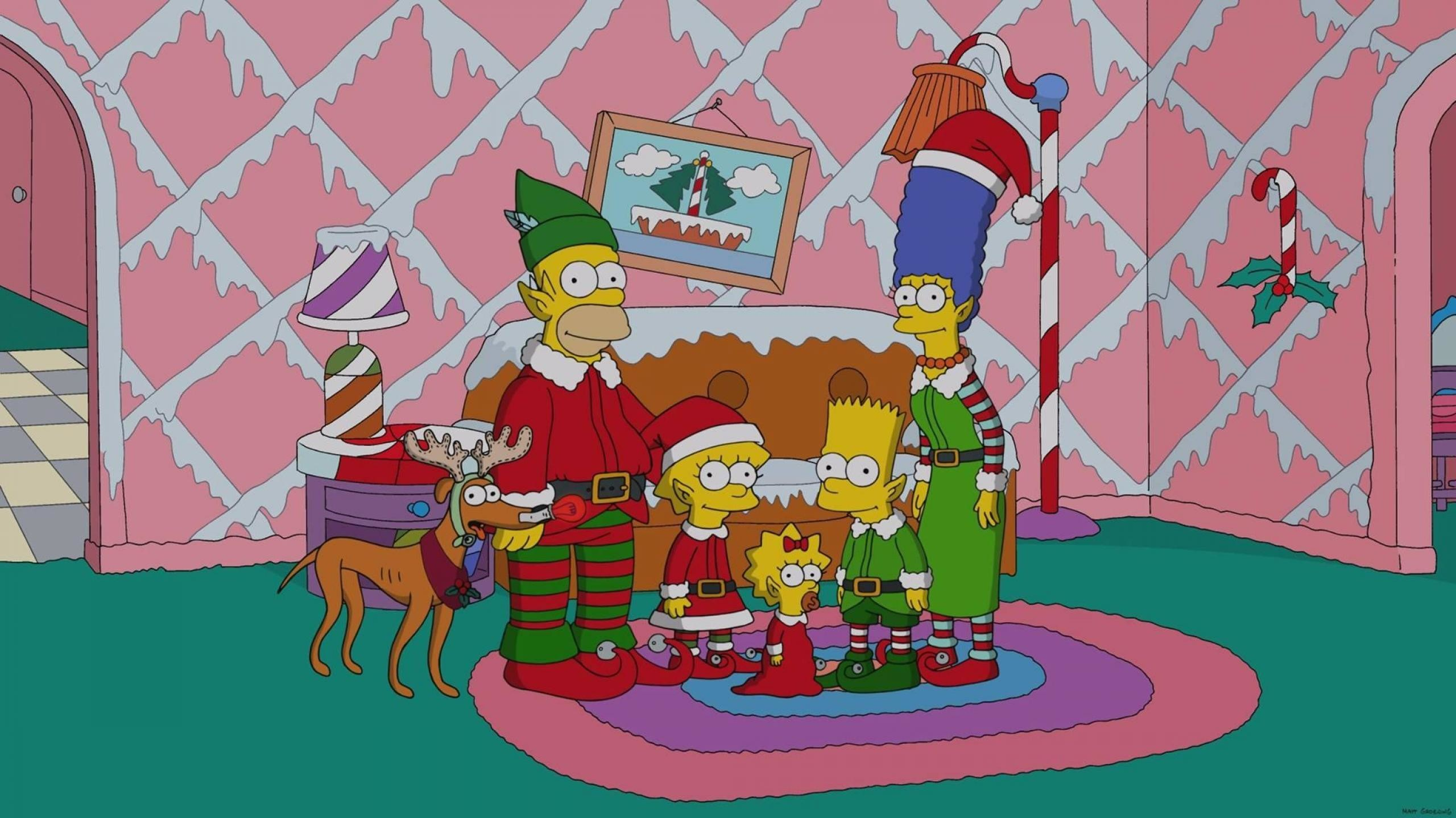Simpsons Christmas Wallpaper 63 Images