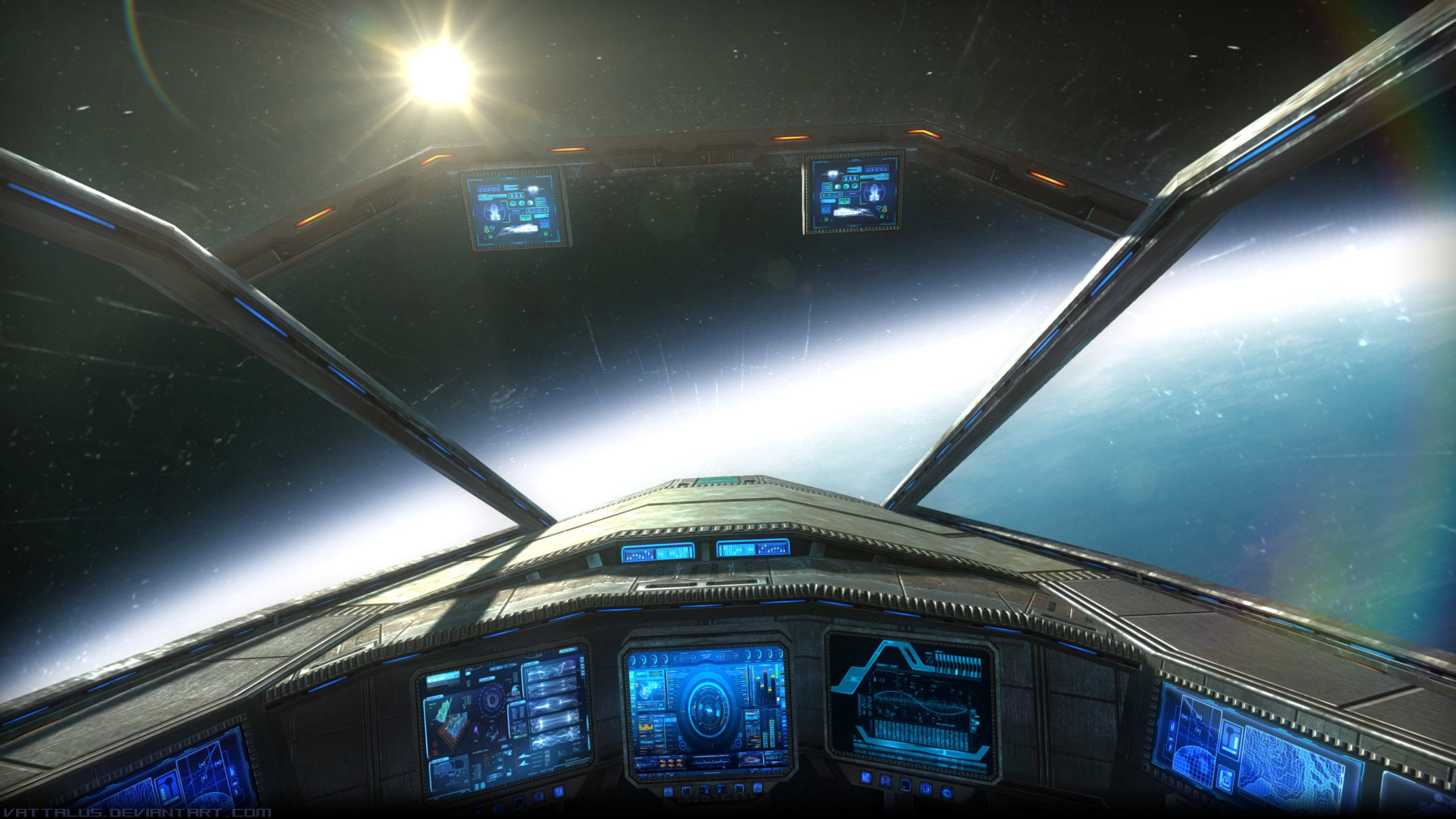 2560x1440 Fantasy Wallpaper, sci-fi, spaceship, space, panel - HD Wallpapers .