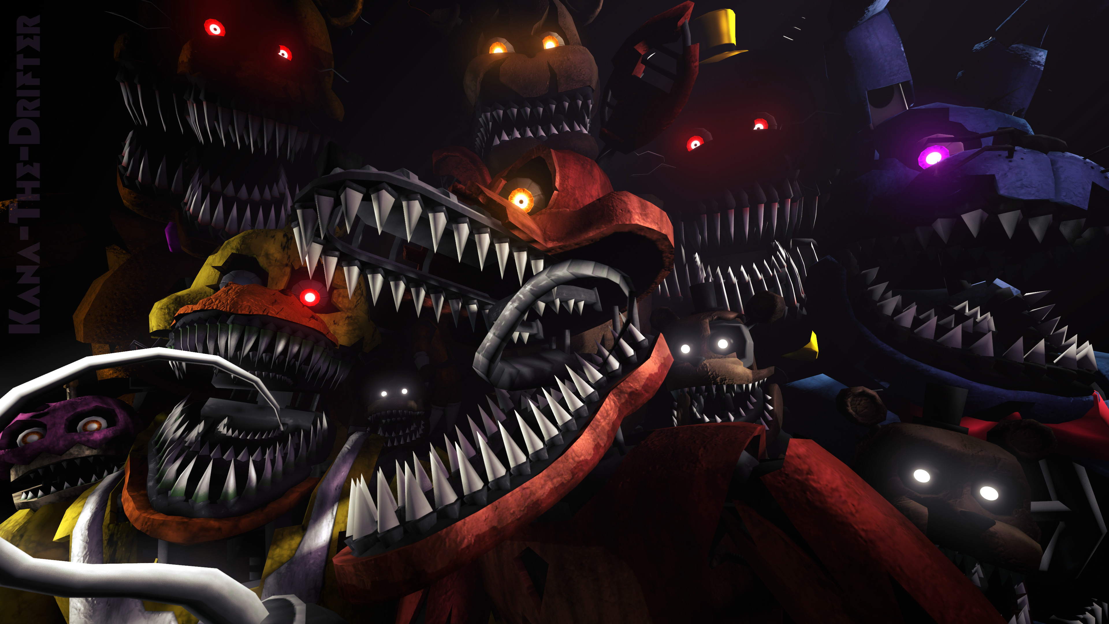 3840x2160 We'll Stay Here Forever (FNAF SFM Wallpaper) by Kana-The-