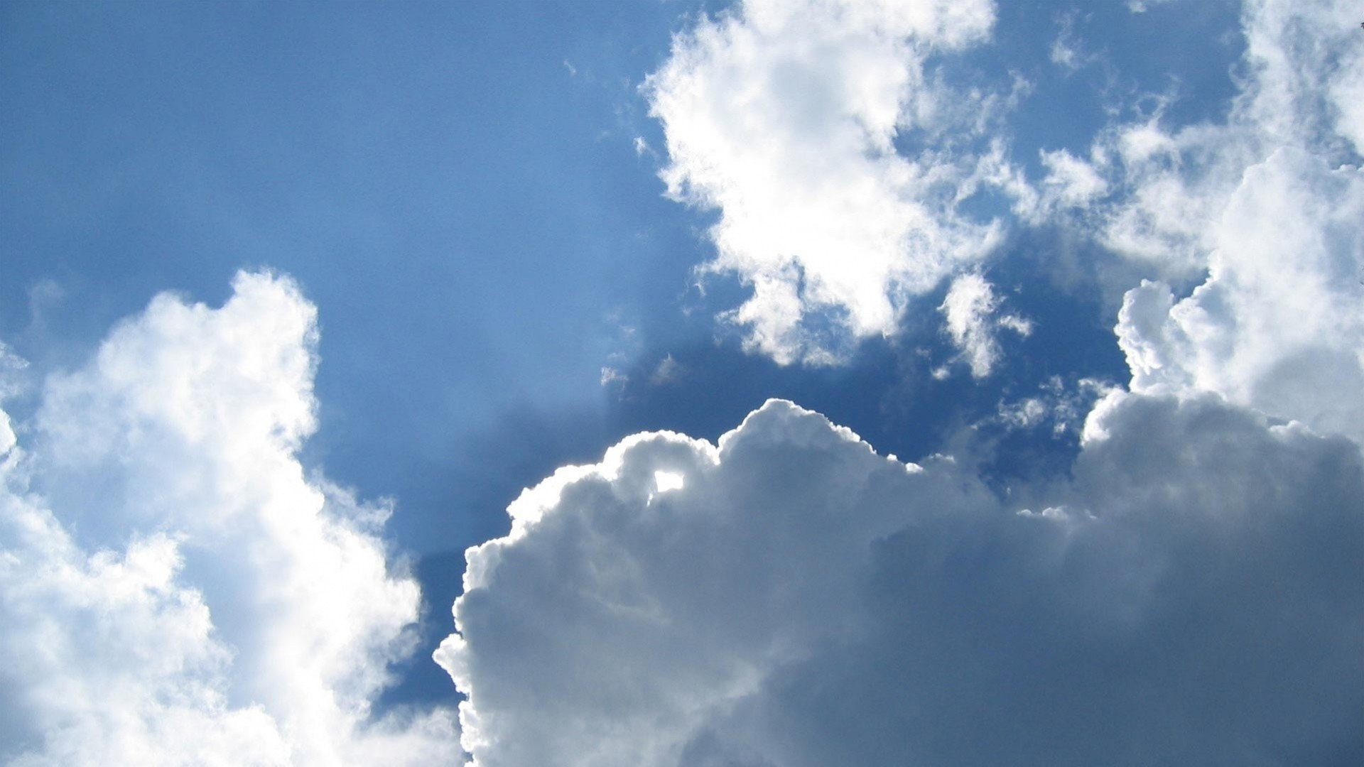 1920x1080  Wallpaper sky, clouds, blue, white, clear