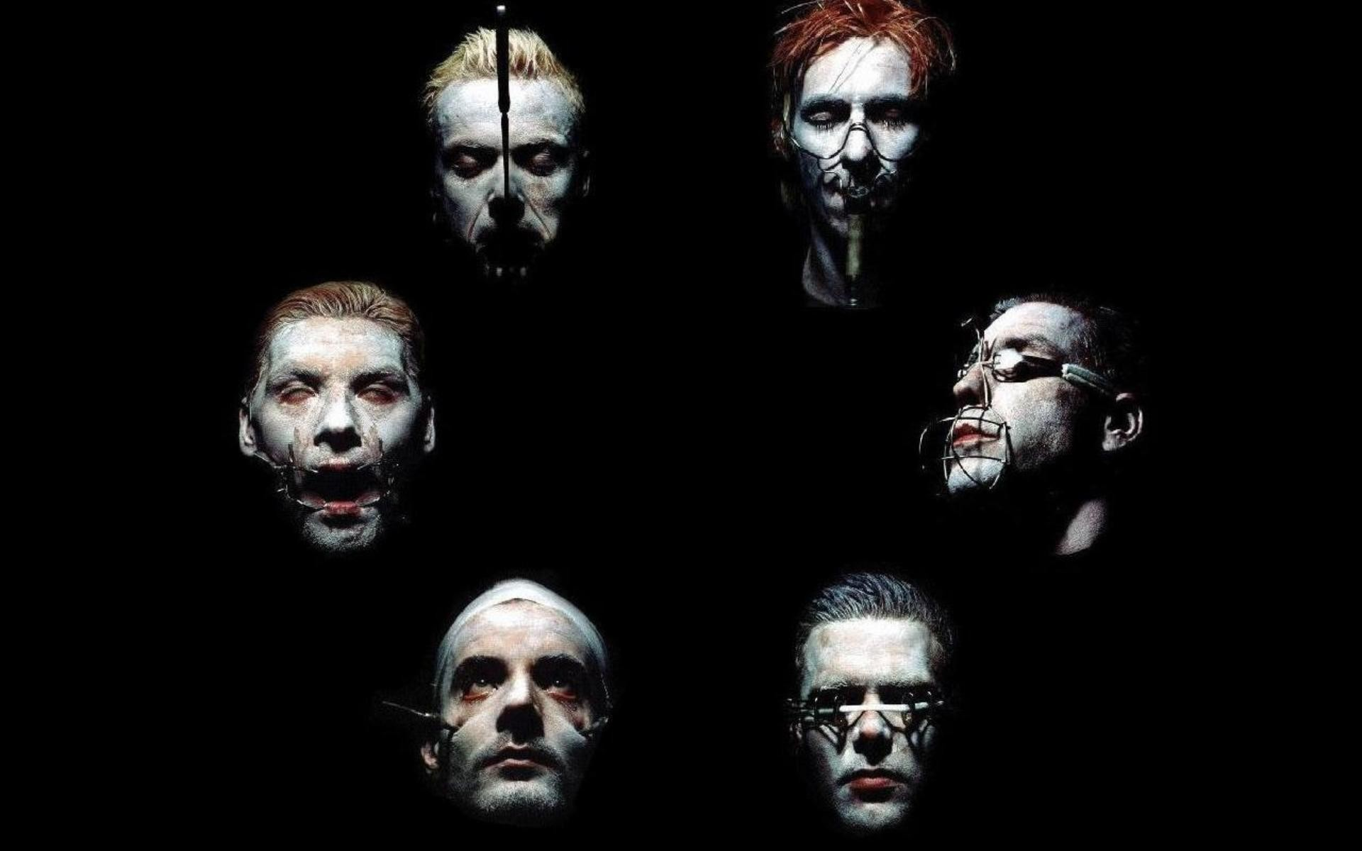 1920x1200 Preview wallpaper rammstein, band, members, faces, horror