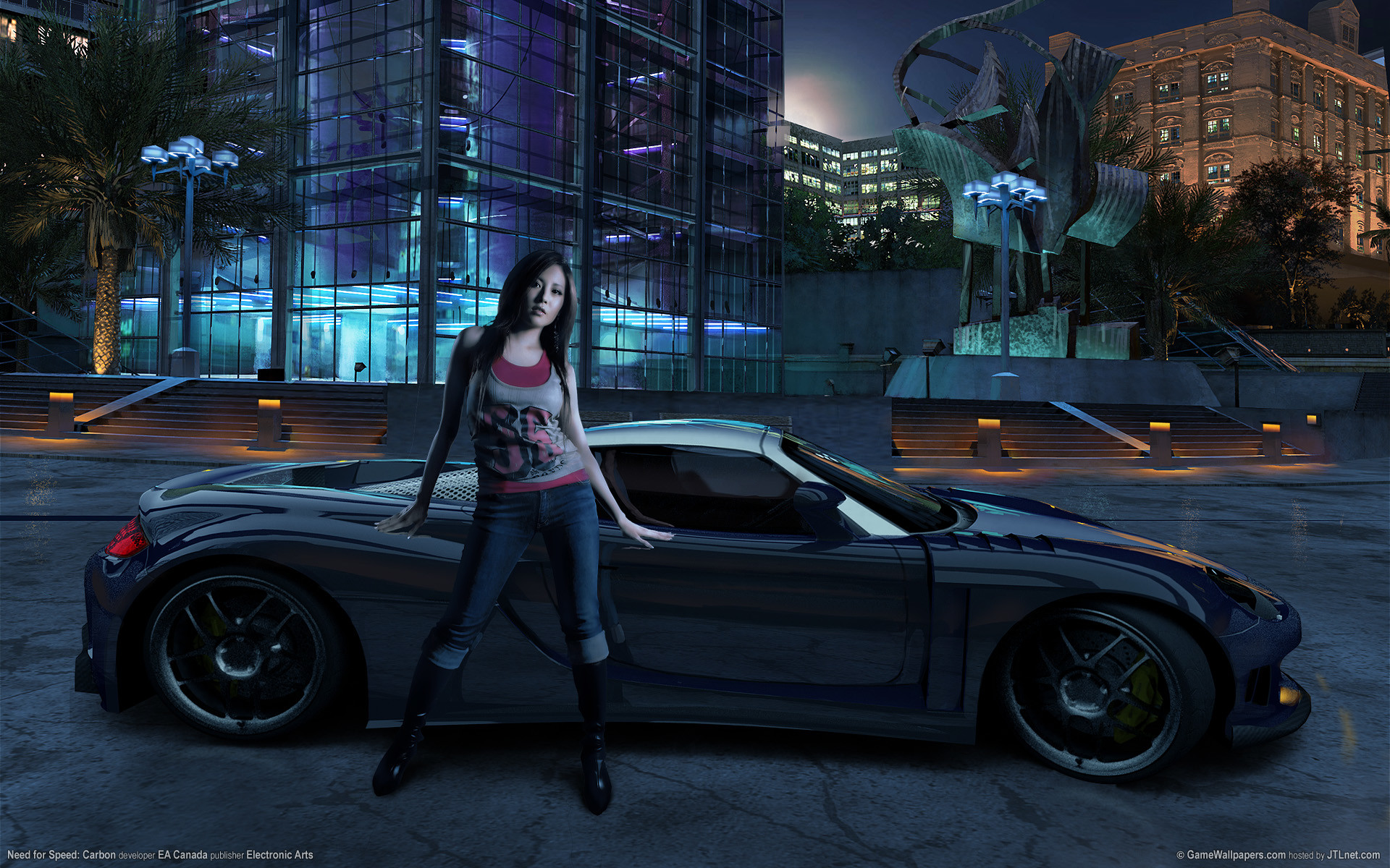 1920x1200 Need for Speed Carbon Girl