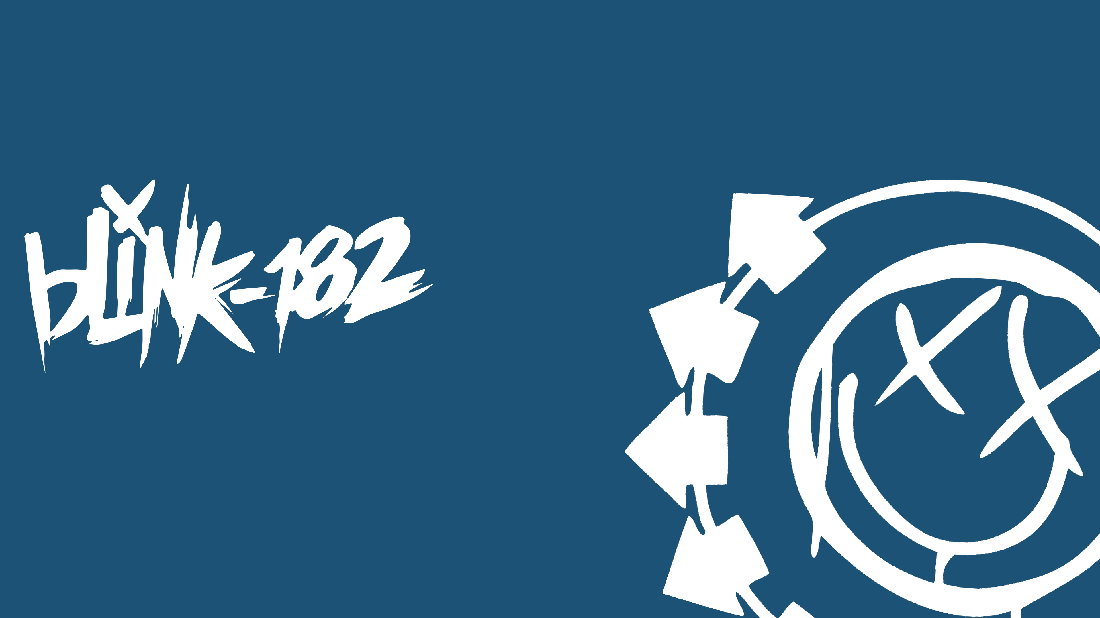 3838x2158 blink 182 logo wallpaper