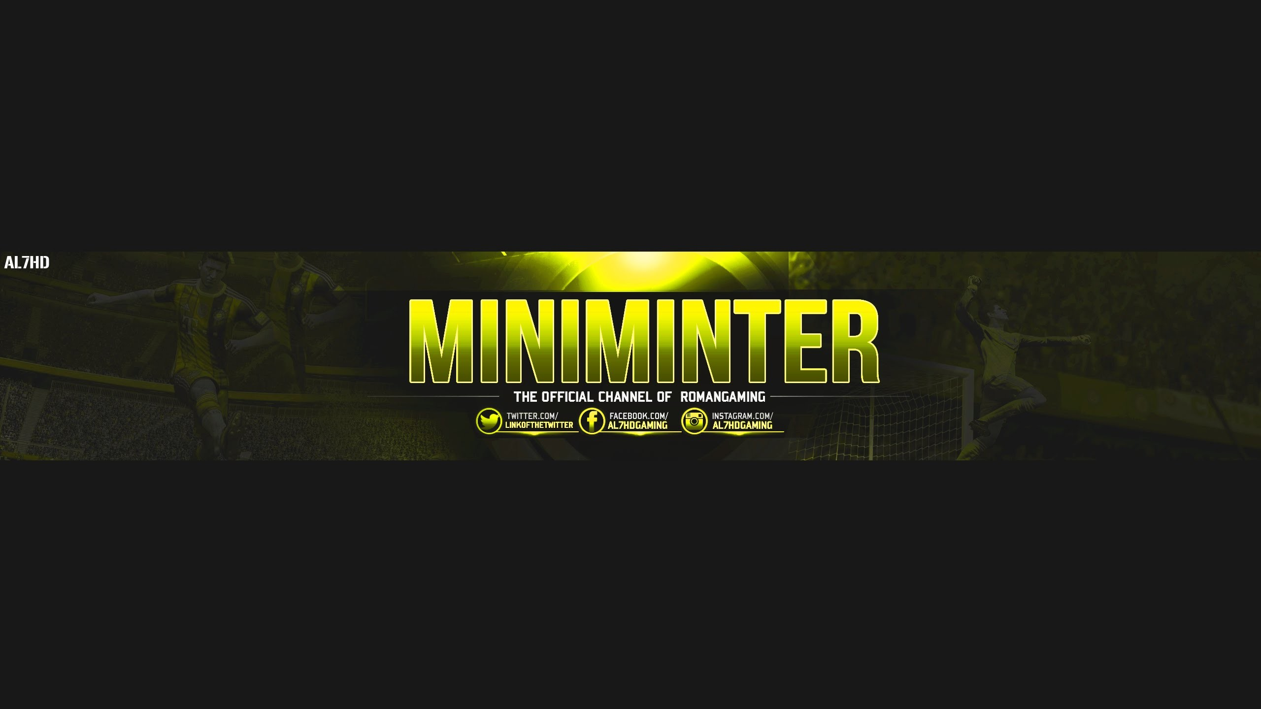 make a banner for youtube