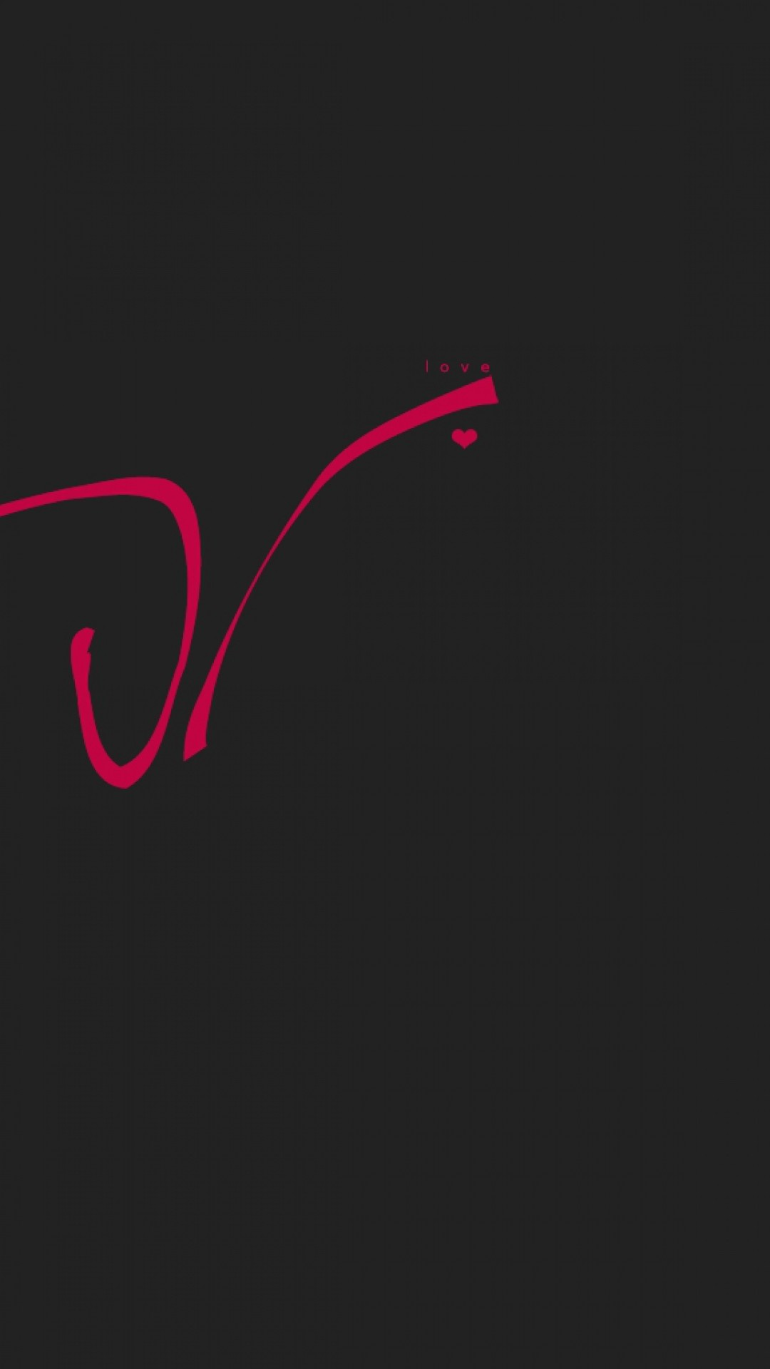 1080x1920 Preview wallpaper love, drawing, line, red, inscription, black