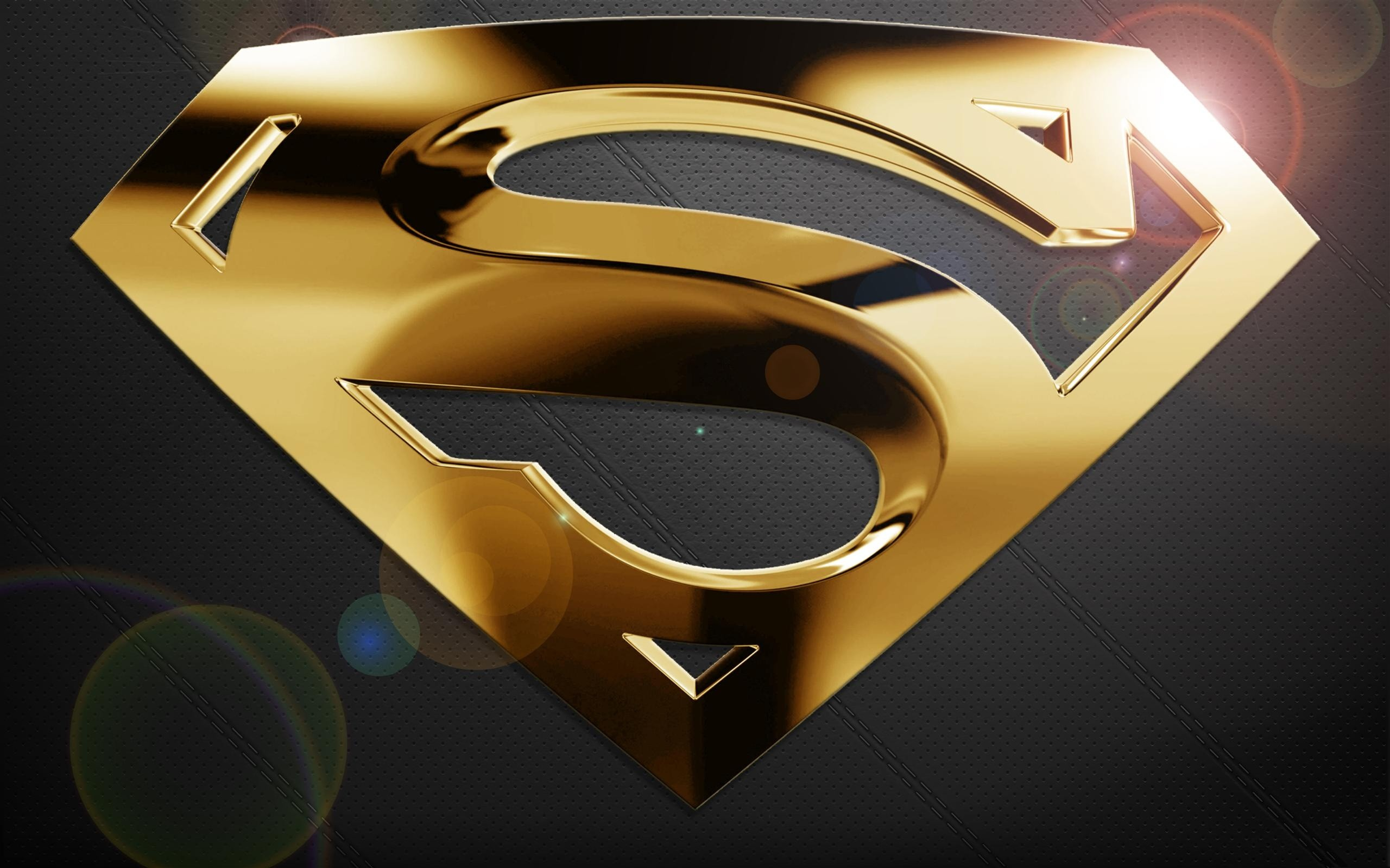 2560x1599 Free Superman HD Wallpapers. blue batman logo wallpaper superman 3d.