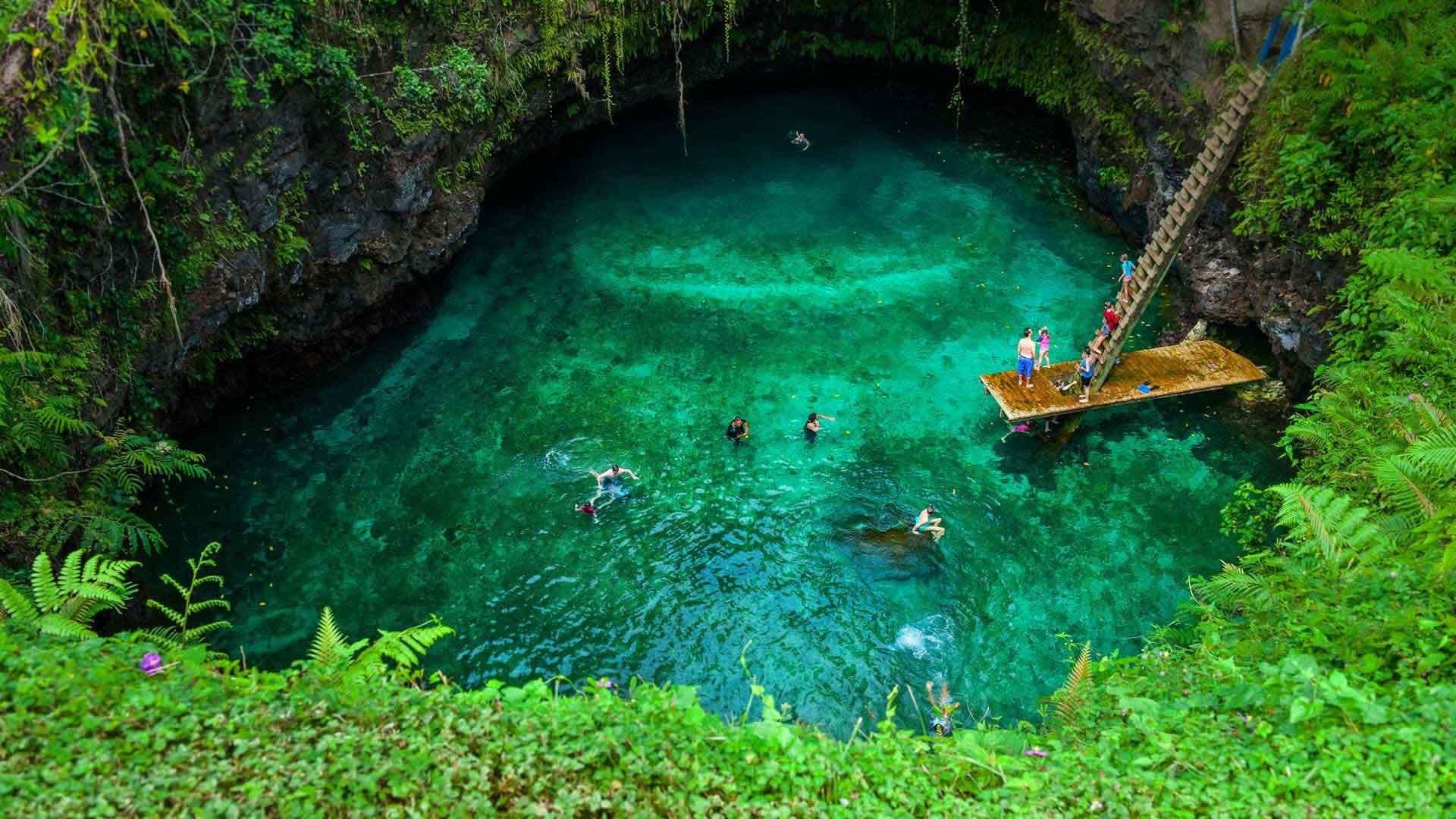 1920x1080 Sea Ocean Island Upolu Cave Samoa Nature Wallpaper Desktop Free Download