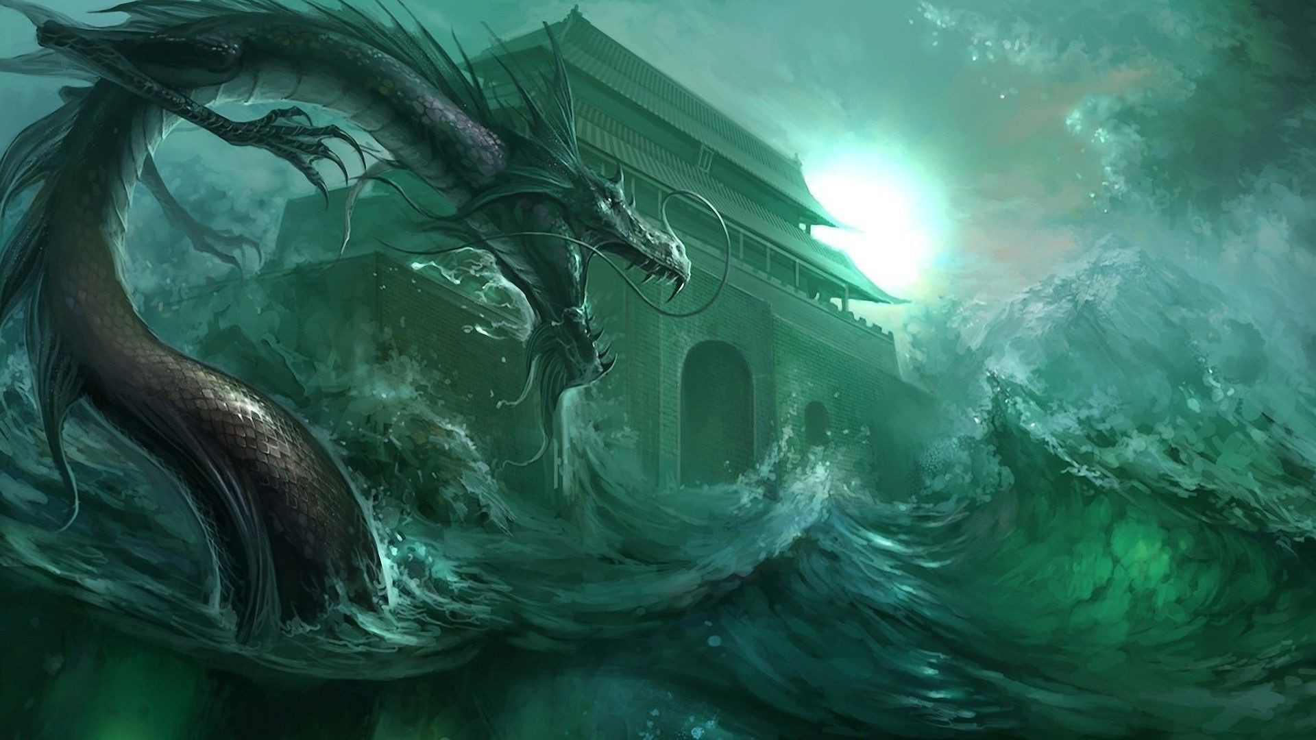 Green dragon wallpaper 71 images - Dragon backgrounds 1920x1080 ...