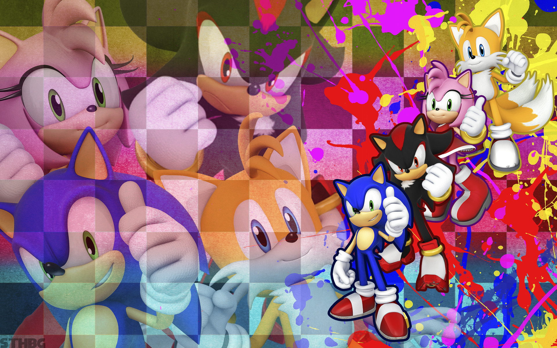 1920x1200 ... SonicTheHedgehogBG Sonic, Shadow, Amy and Tails - Wallpaper by  SonicTheHedgehogBG
