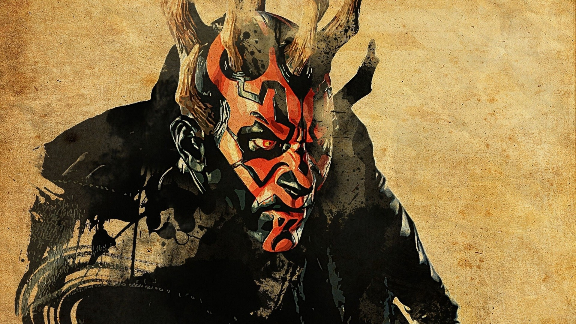 1920x1080 Preview wallpaper star wars, darth maul, art