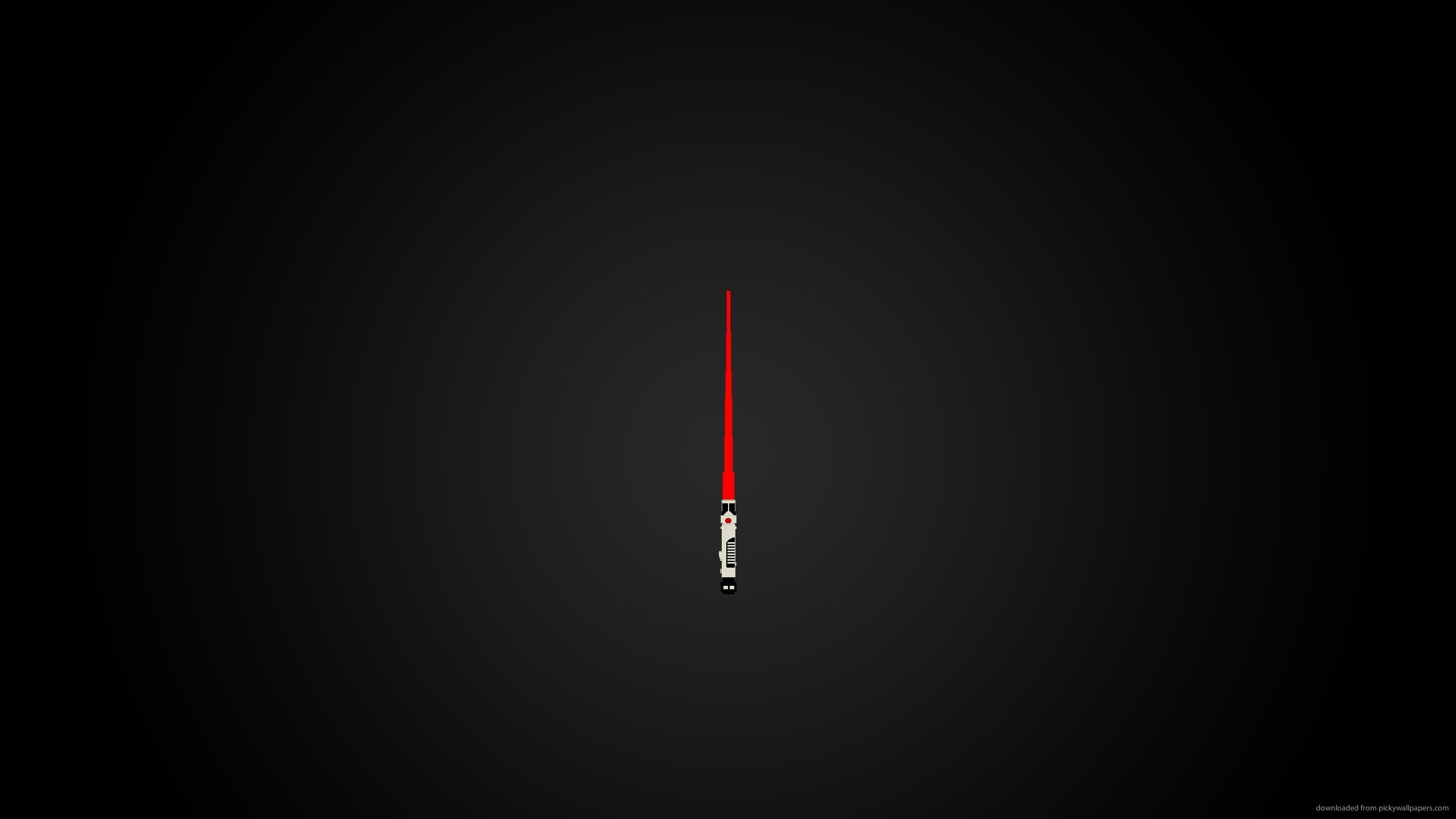 2560x1440 Red Lightsaber for
