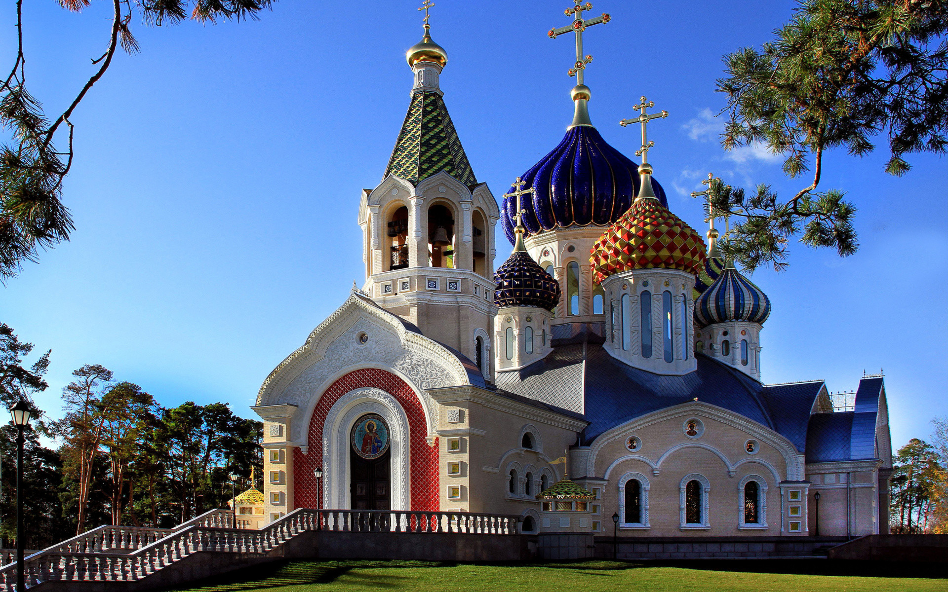 1920x1200 Religious - Church Religious Architecture Russia Colorful Dome Wallpaper