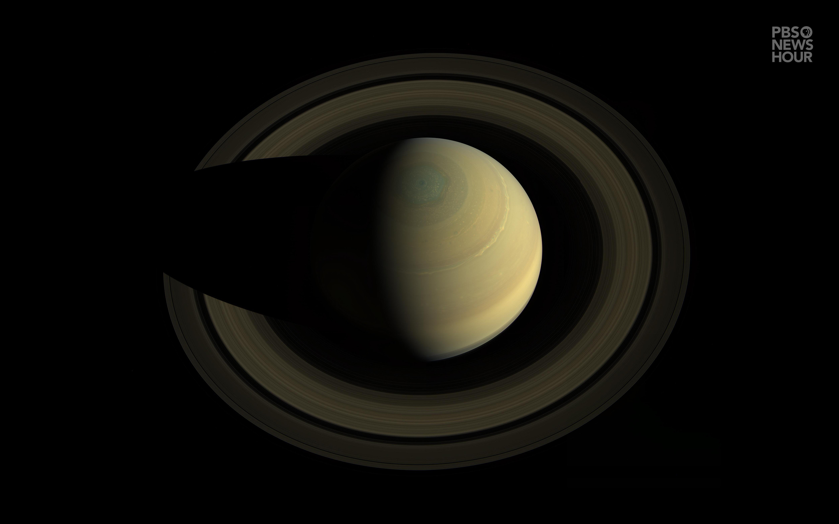 2880x1800 Saturn's mysterious six-sided weather pattern known as the hexagon is  visible around planet's north