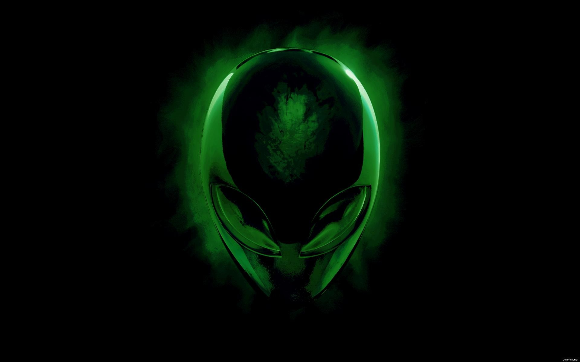 1920x1200 Alienware Desktop Background Alien Head Green