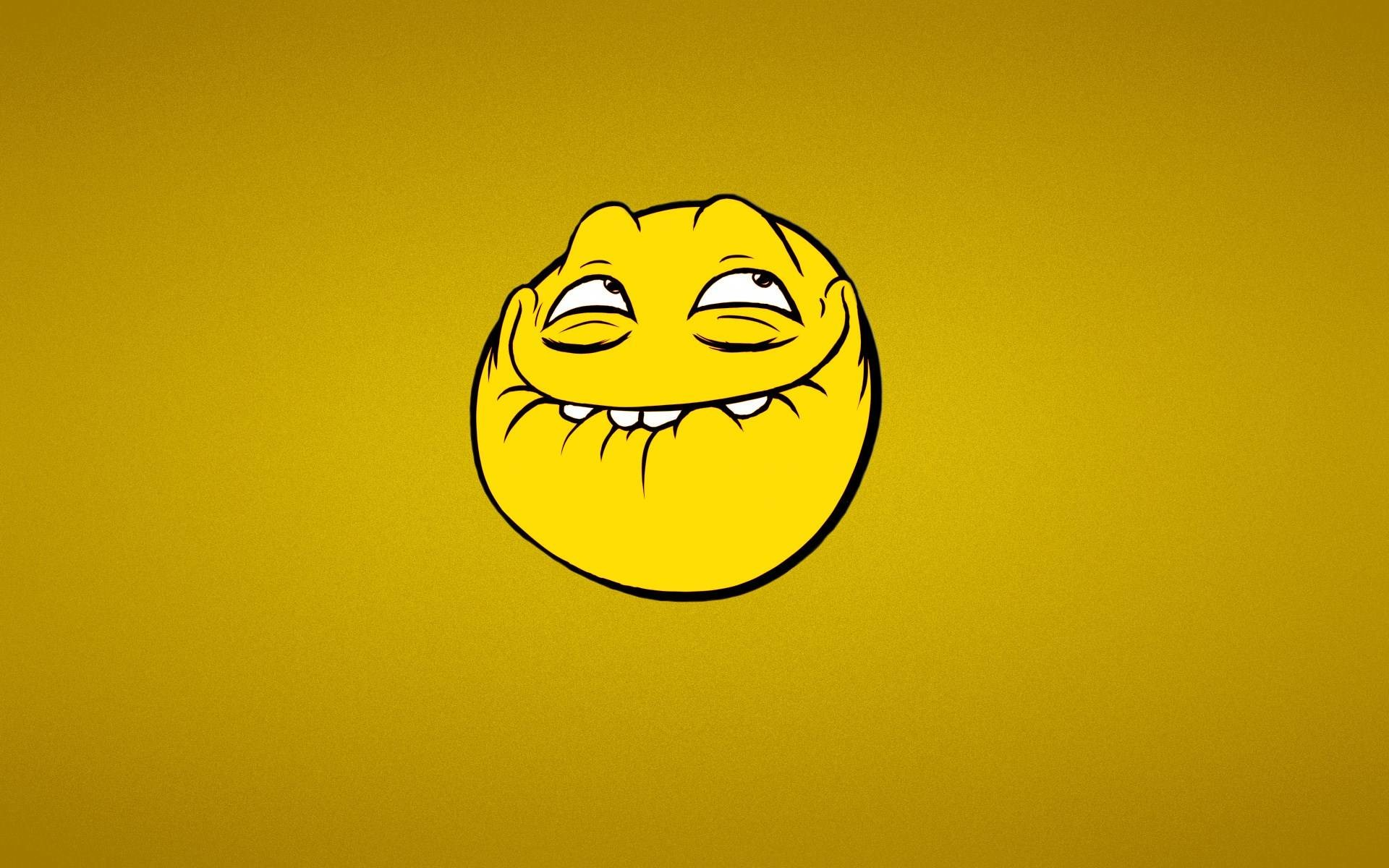 1920x1200 Smile Trollface Yellow Cartoon Wallpaper Desktop #0023 Wallpaper