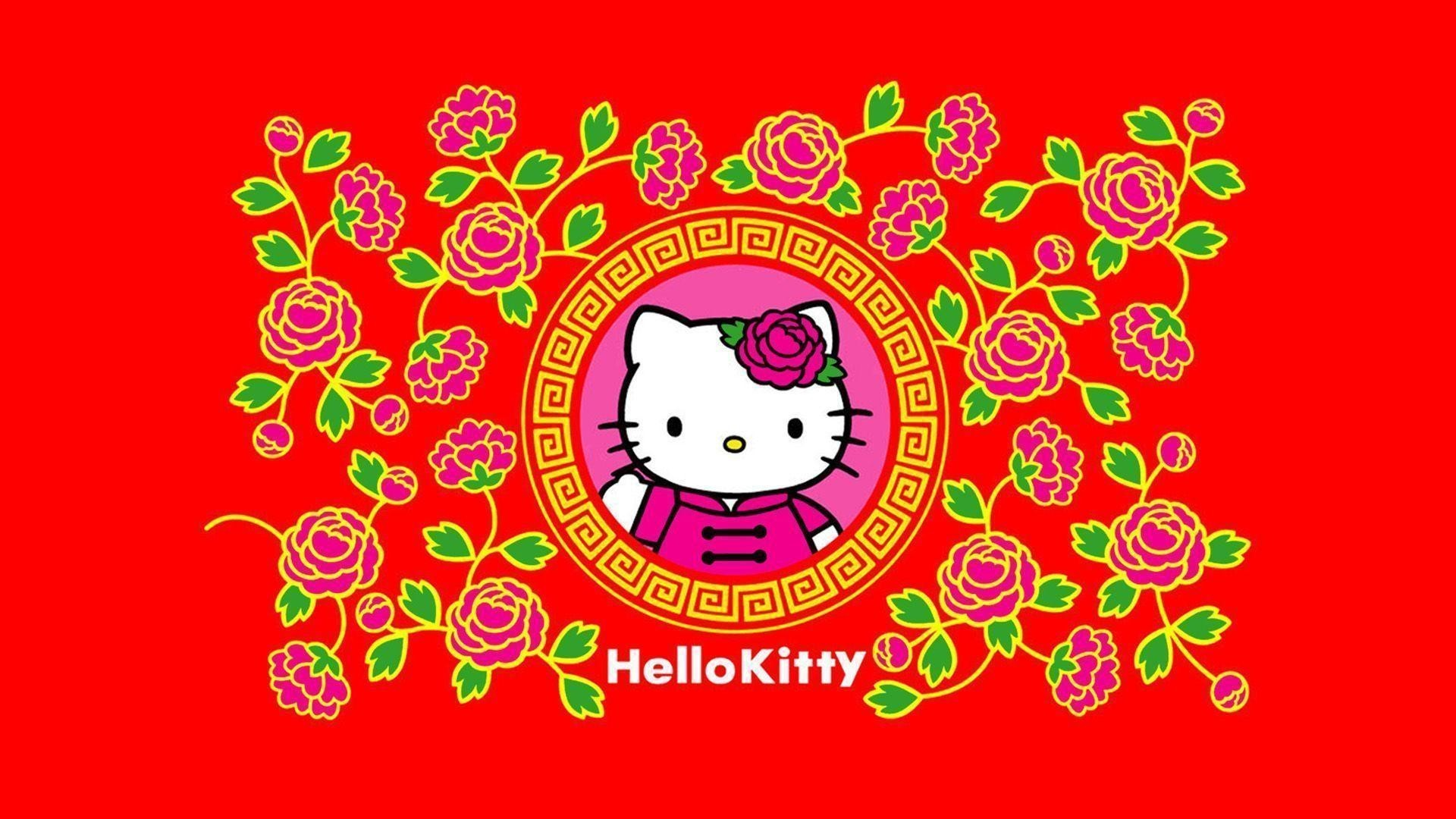 1920x1080 Hello Kitty Thanksgiving Background HD Wallpaper ...