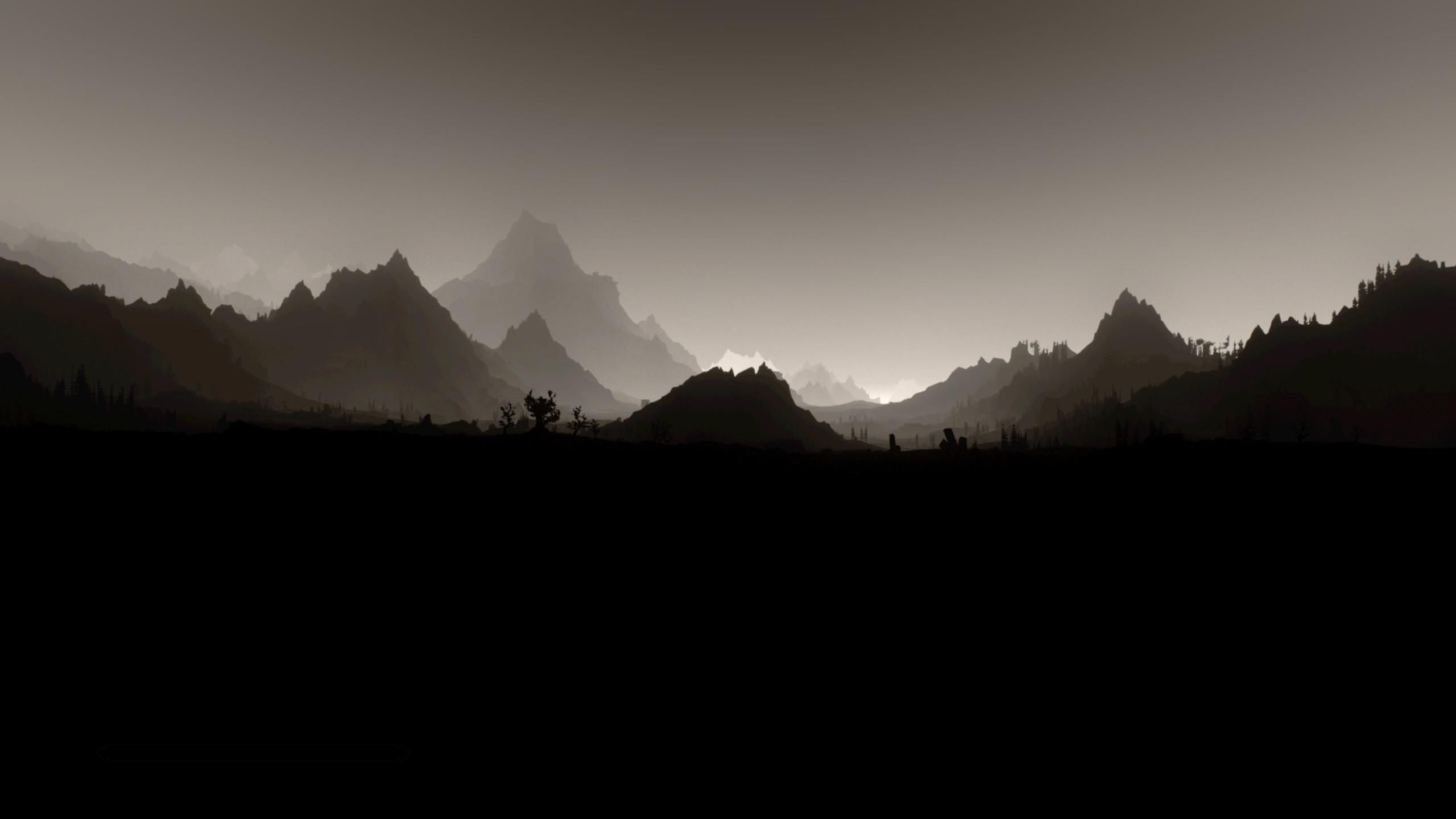 Minimalism Mountain Peak Full Hd Wallpaper: Minimalist HD Wallpaper (83+ Images